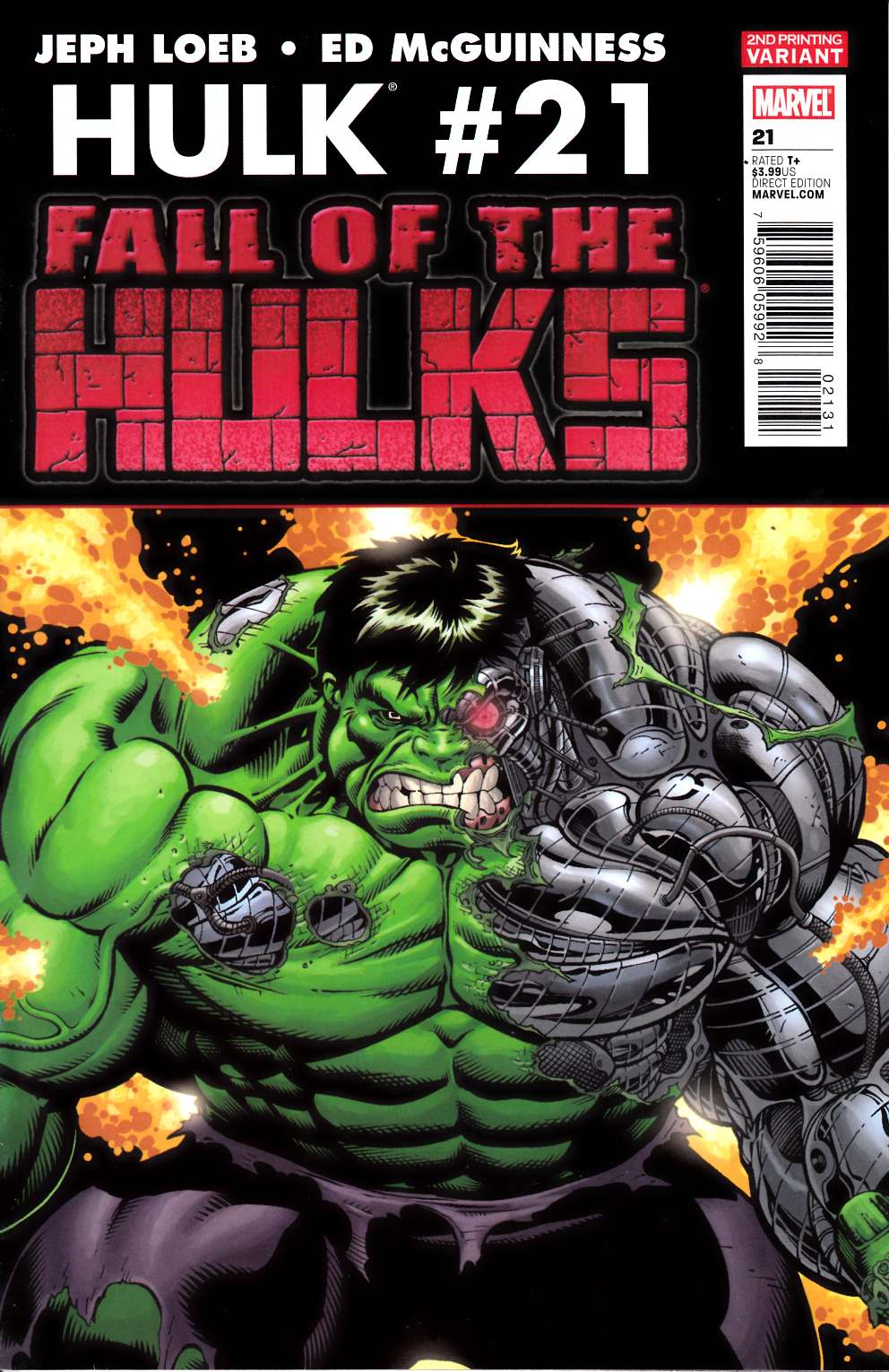 Hulk #21 Second Printing Very Fine Plus (8.5) [Marvel Comic] LARGE