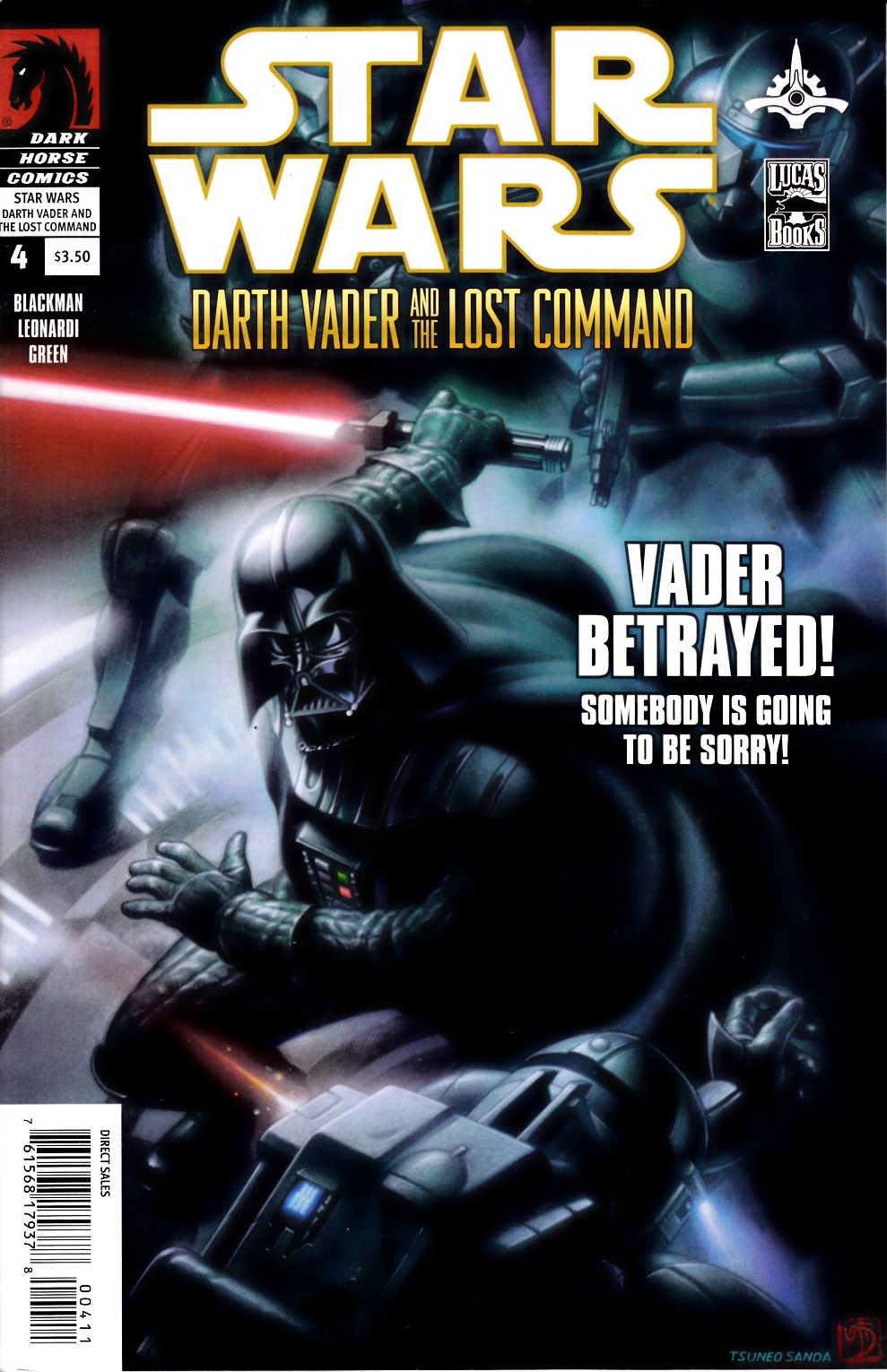 Star Wars Darth Vader and the Lost Command #4 Very Fine (8.0) [Dark Horse Comic] THUMBNAIL