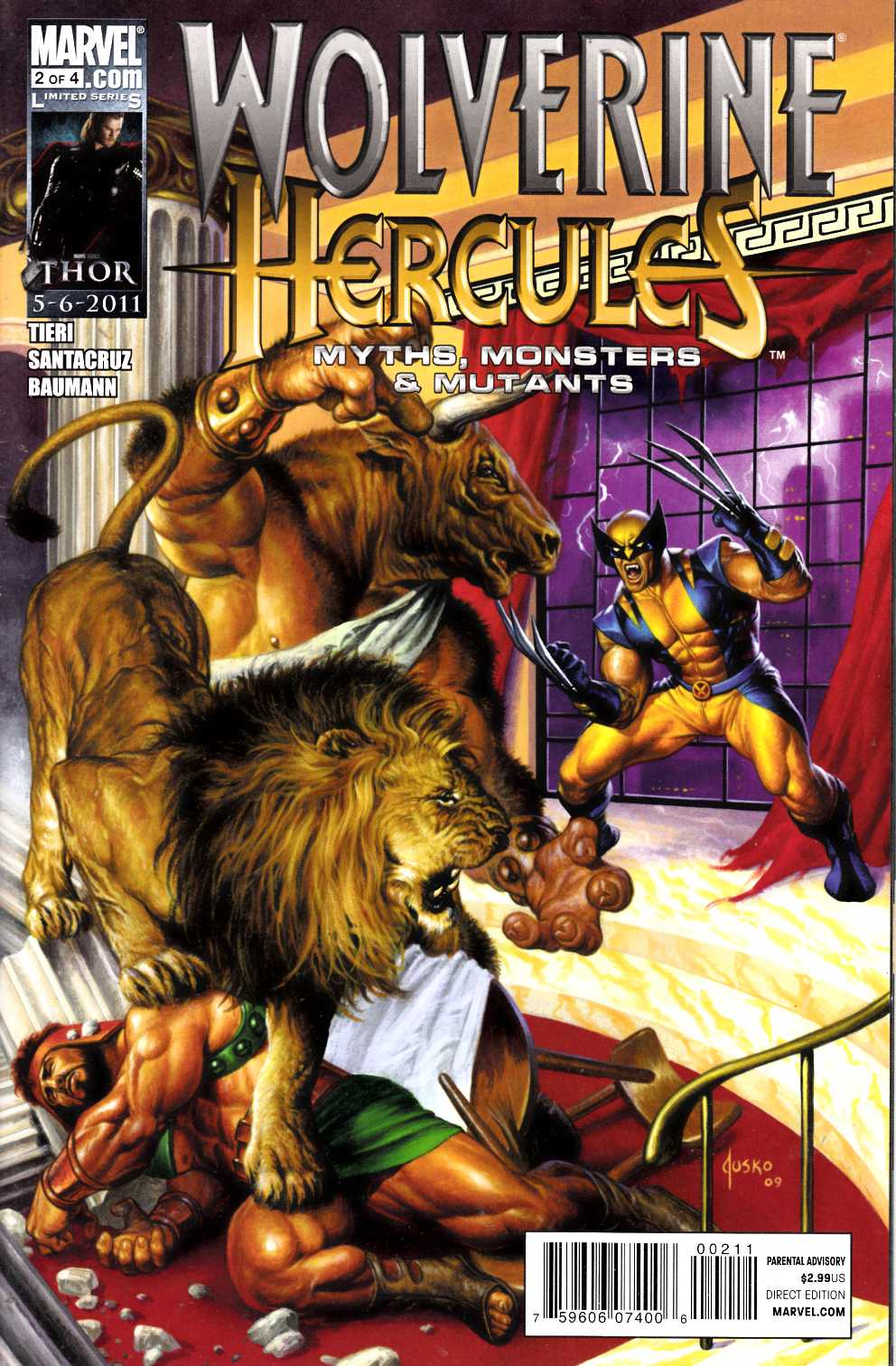 Wolverine Hercules Myths Monsters and Mutants #2 Near Mint Minus (9.2) [Marvel Comic] THUMBNAIL