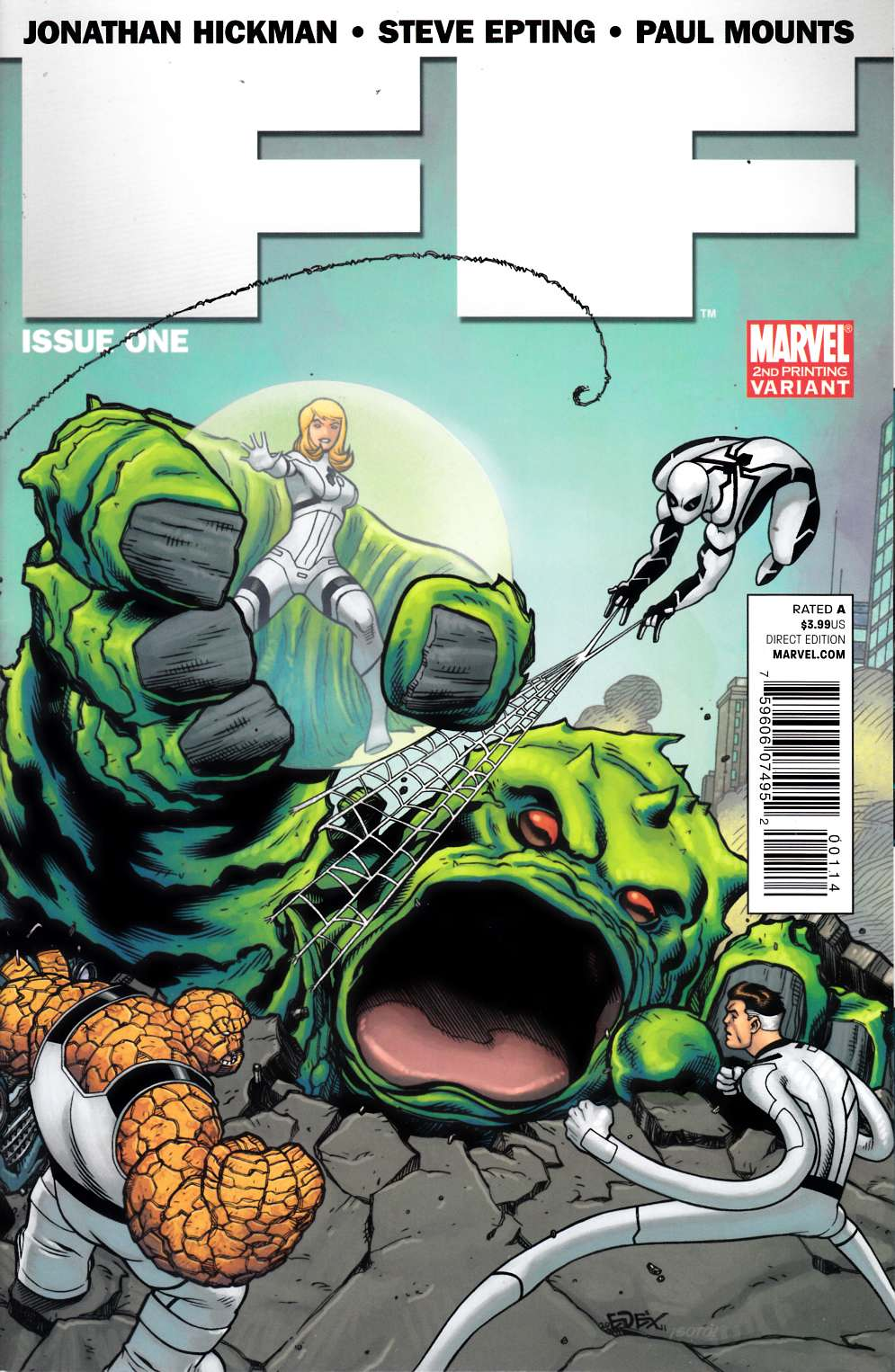 FF #1 Second Printing Near Mint Minus (9.2) [Marvel Comic]_THUMBNAIL