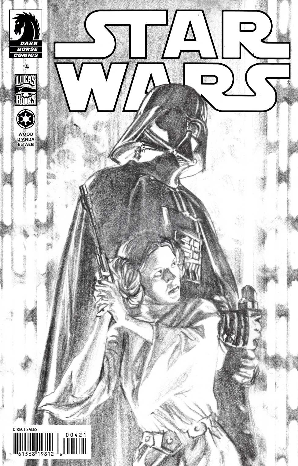 Star Wars #4 Ross Sketch Incentive Cover Near Mint Minus (9.2) [Dark Horse Comic] THUMBNAIL