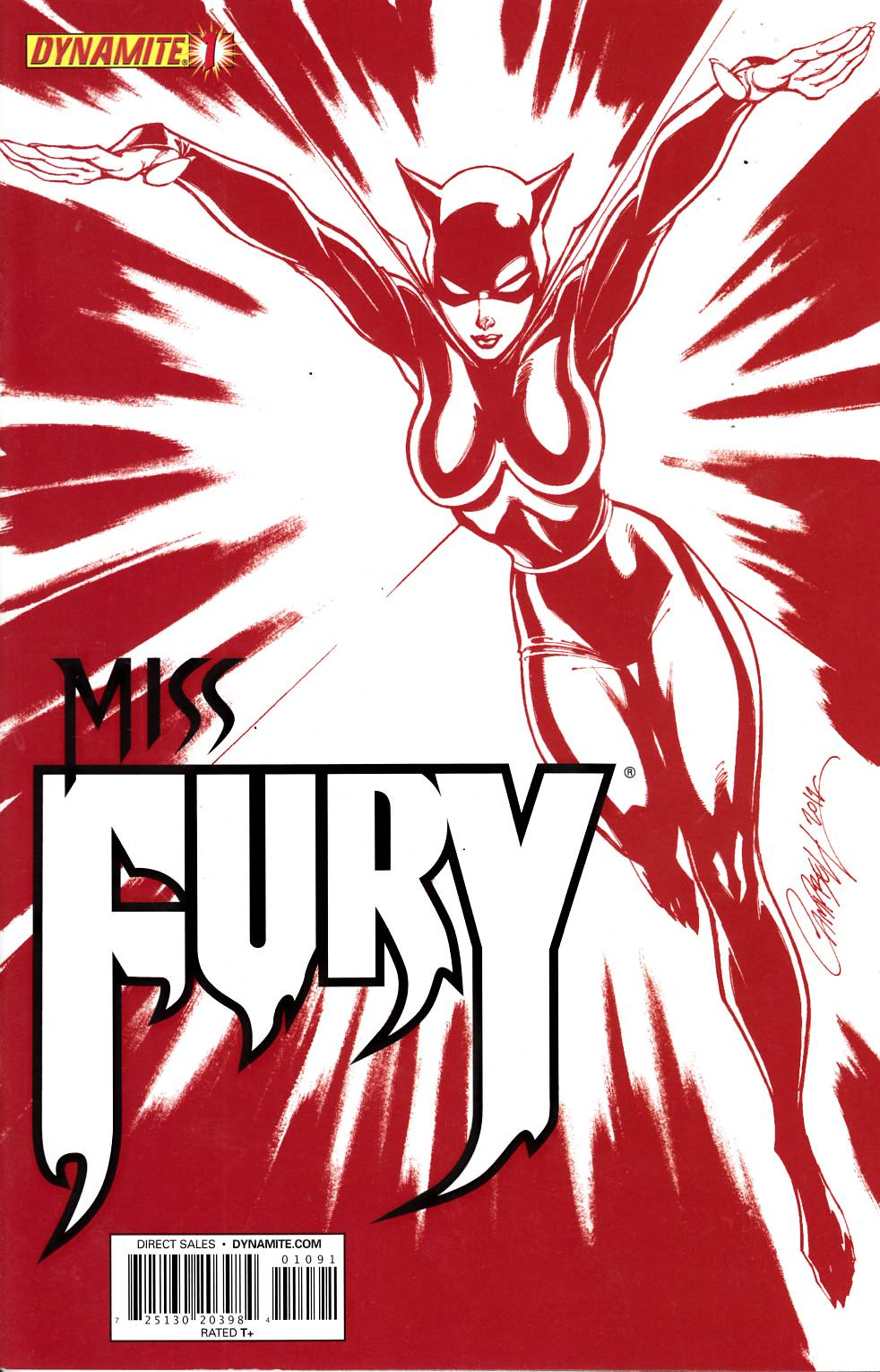 Miss Fury #1 Campbell C2E2 Exclusive Cover Very Fine (8.0) [Dynamite Comic] THUMBNAIL