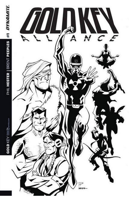 Gold Key Alliance #1 Cover D- Hester B&W Incentive [Dynamite Comic] LARGE