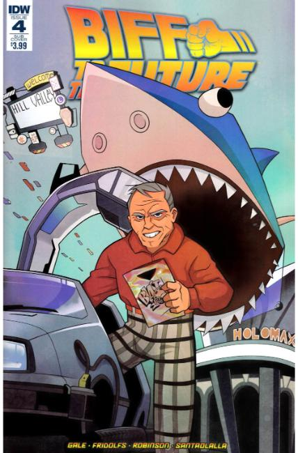 Back to the Future Biff to the Future #4 Subscription Cover [IDW Comic]