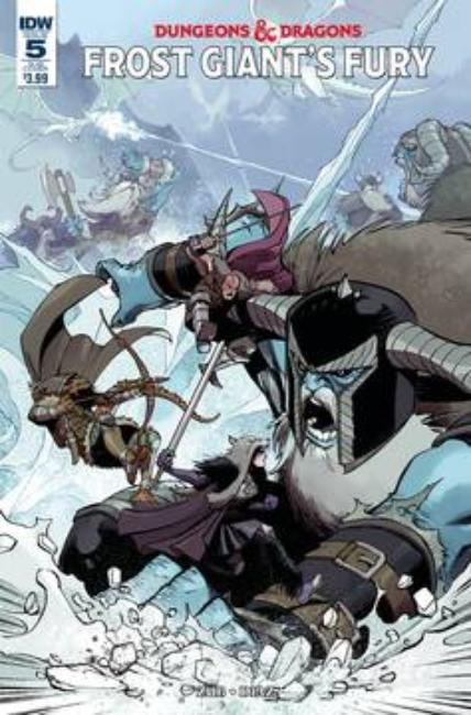Dungeons & Dragons Frost Giants Fury #5 Subscription Cover [IDW Comic] THUMBNAIL