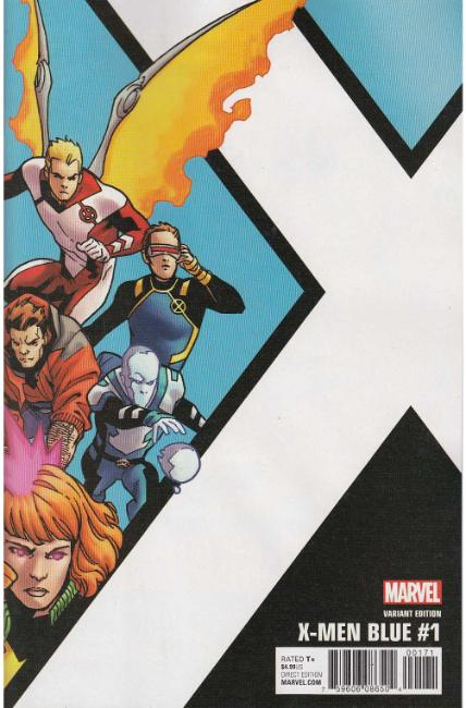 X-Men Blue #1 Kirk Corner Box Variant Cover [Marvel Comic]_THUMBNAIL