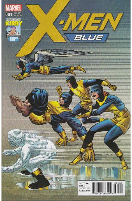 X-Men Blue #1 Kirby 100th Variant Cover [Marvel Comic]_THUMBNAIL