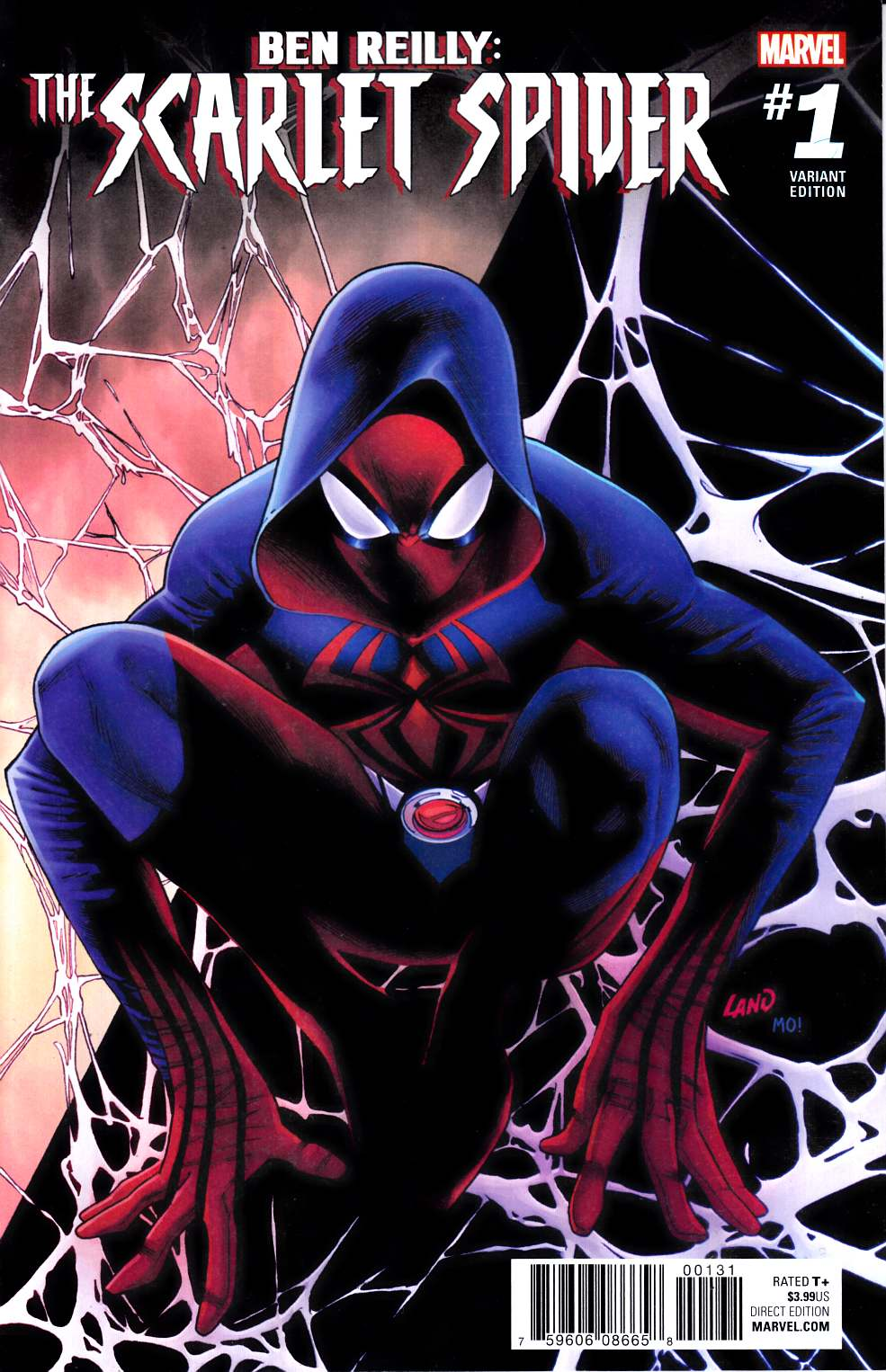 Ben Reilly Scarlet Spider #1 Land Variant Cover [Marvel Comic]_LARGE