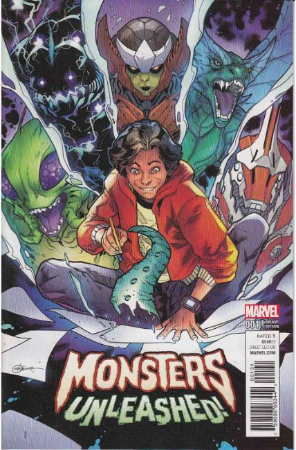 Monsters Unleashed #1 RB Silva Variant Cover [Marvel Comic]