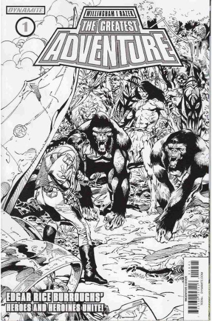 Greatest Adventure #1 Cover D- Castro B&W Incentive [Dynamite Comic] LARGE