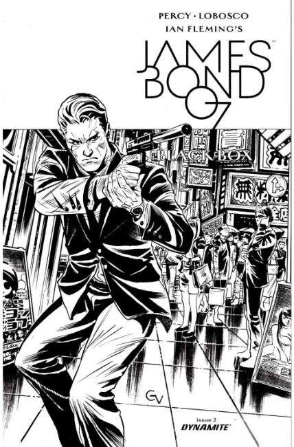 James Bond #2 Cover D- Valletta B&W Incentive [Dynamite Comic] THUMBNAIL