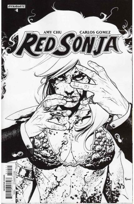 Red Sonja #4 Cover G- Mckone B&W Incentive [Dynamite Comic]