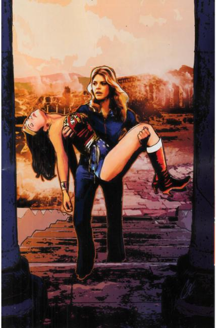 Wonder Woman 77 Bionic Woman #5 Cover C- Staggs Vigin Variant [Dynamite Comic] THUMBNAIL