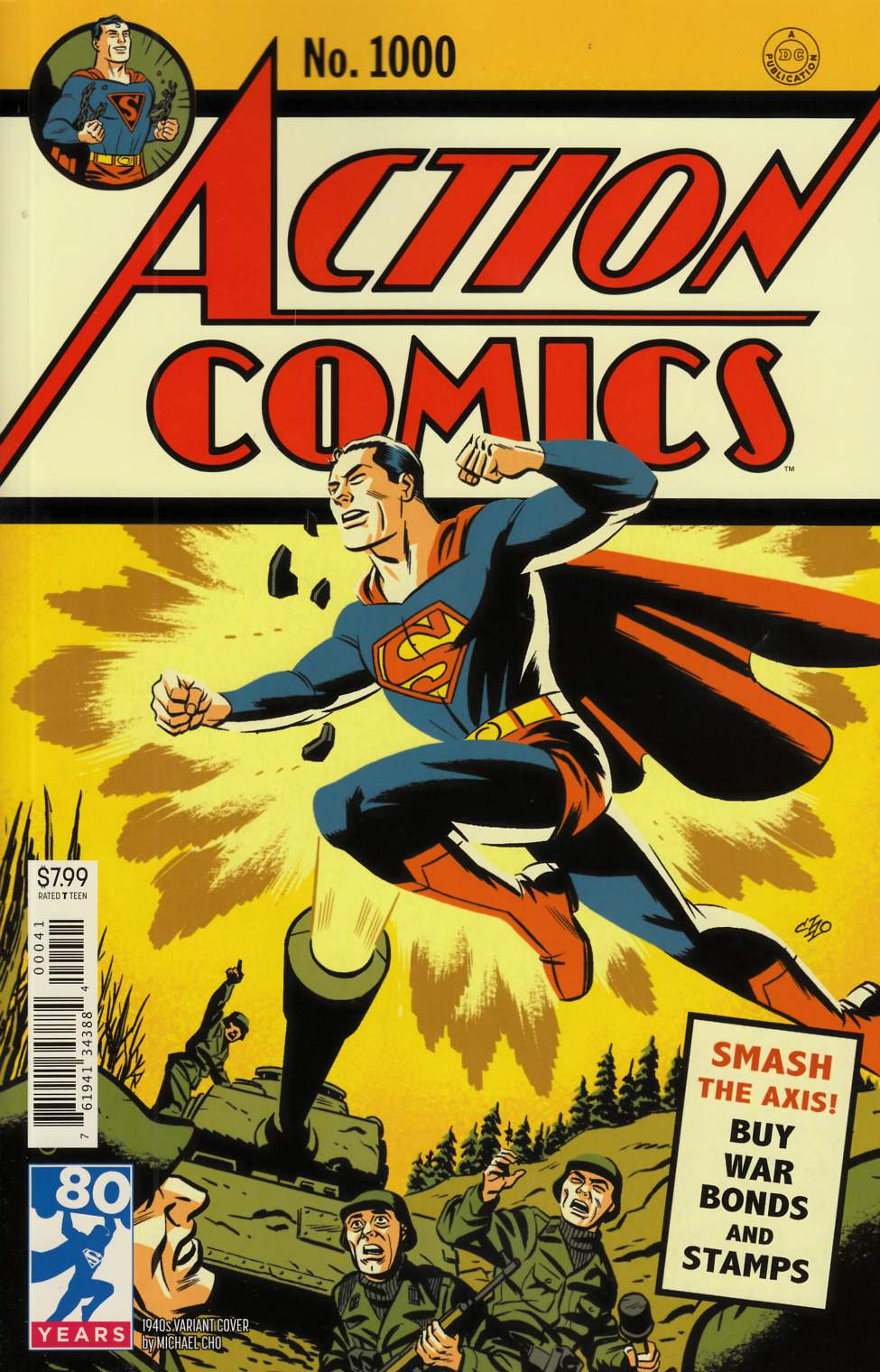 Action Comics #1000 1940s Variant Cover [DC Comic] THUMBNAIL