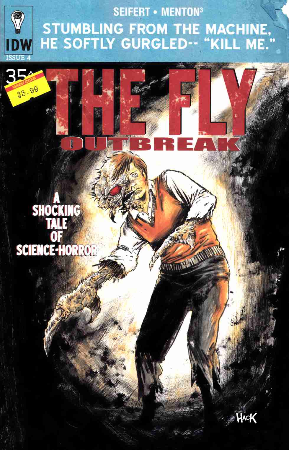 Fly Outbreak #4 Subscription Cover [IDW Comic] THUMBNAIL