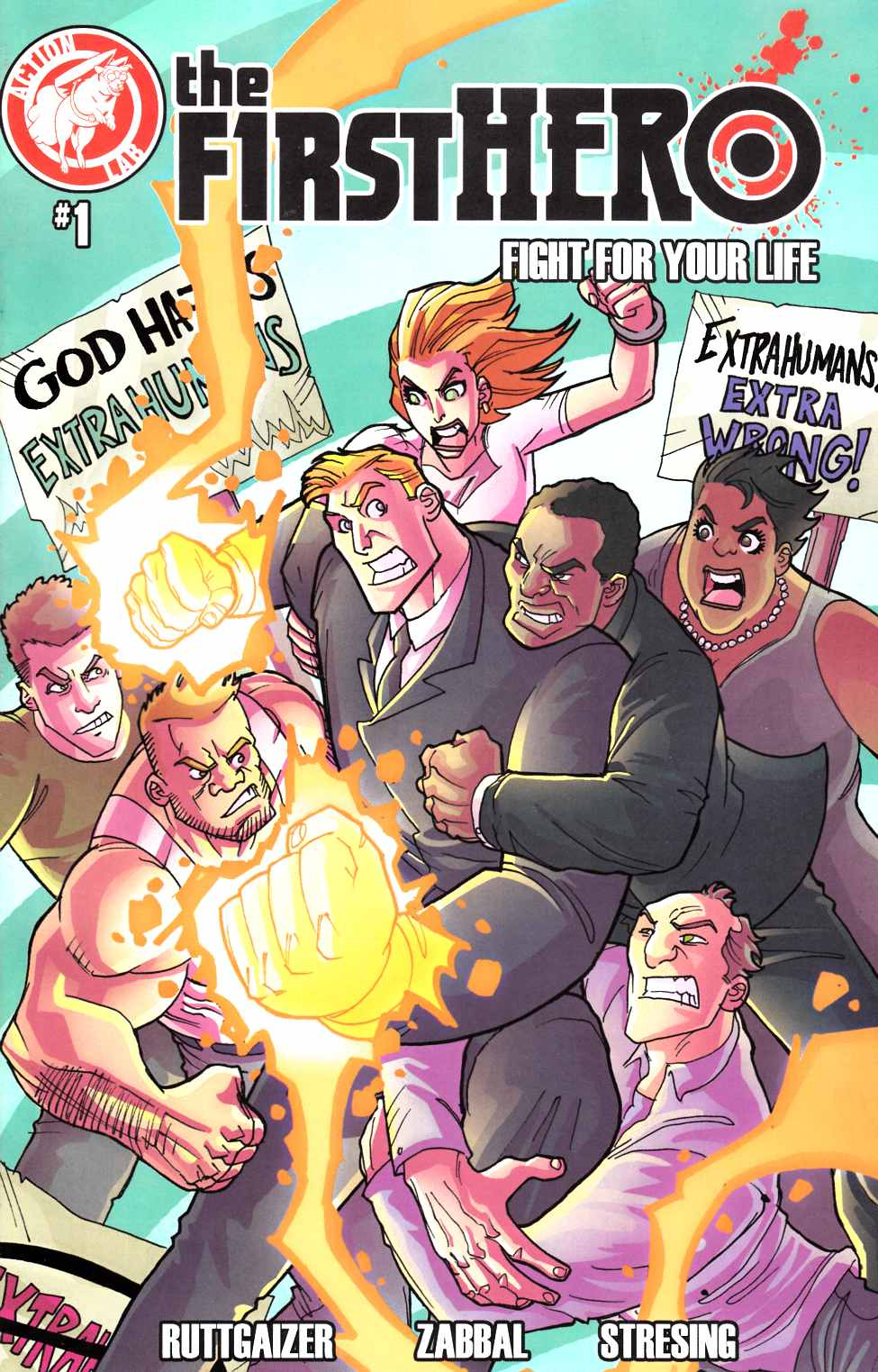 F1Rst Hero Fight For Your Life #1 Gaylord Variant Cover [Action Lab Comic] LARGE