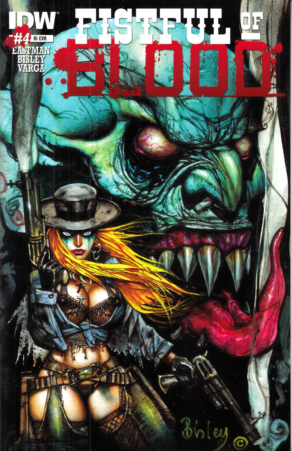 Fistful of Blood #4 Cover RI [IDW Comic] LARGE