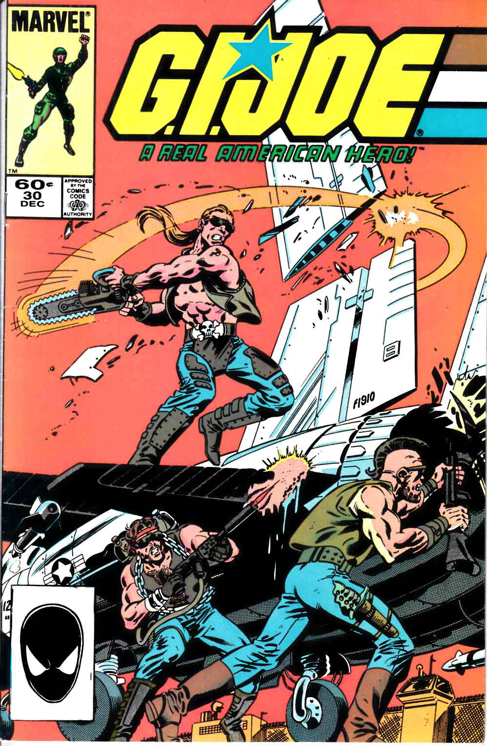 GI Joe A Real American Hero #30 Second Printing Very Fine (8.0) [Marvel Comic] LARGE