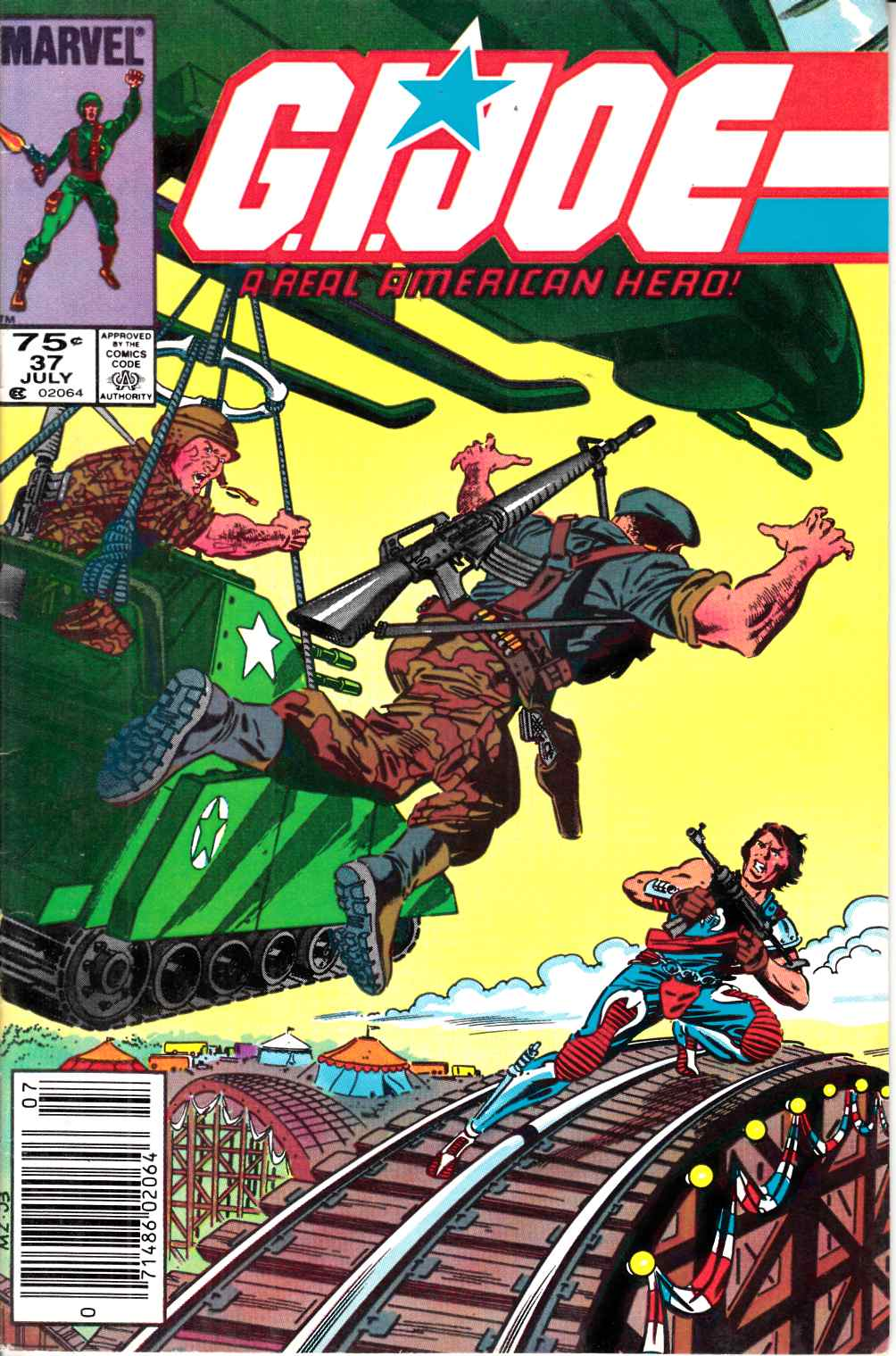 GI Joe A Real American Hero #37 Newsstand Edition Very Fine Minus (7.5) [Marvel Comic] LARGE