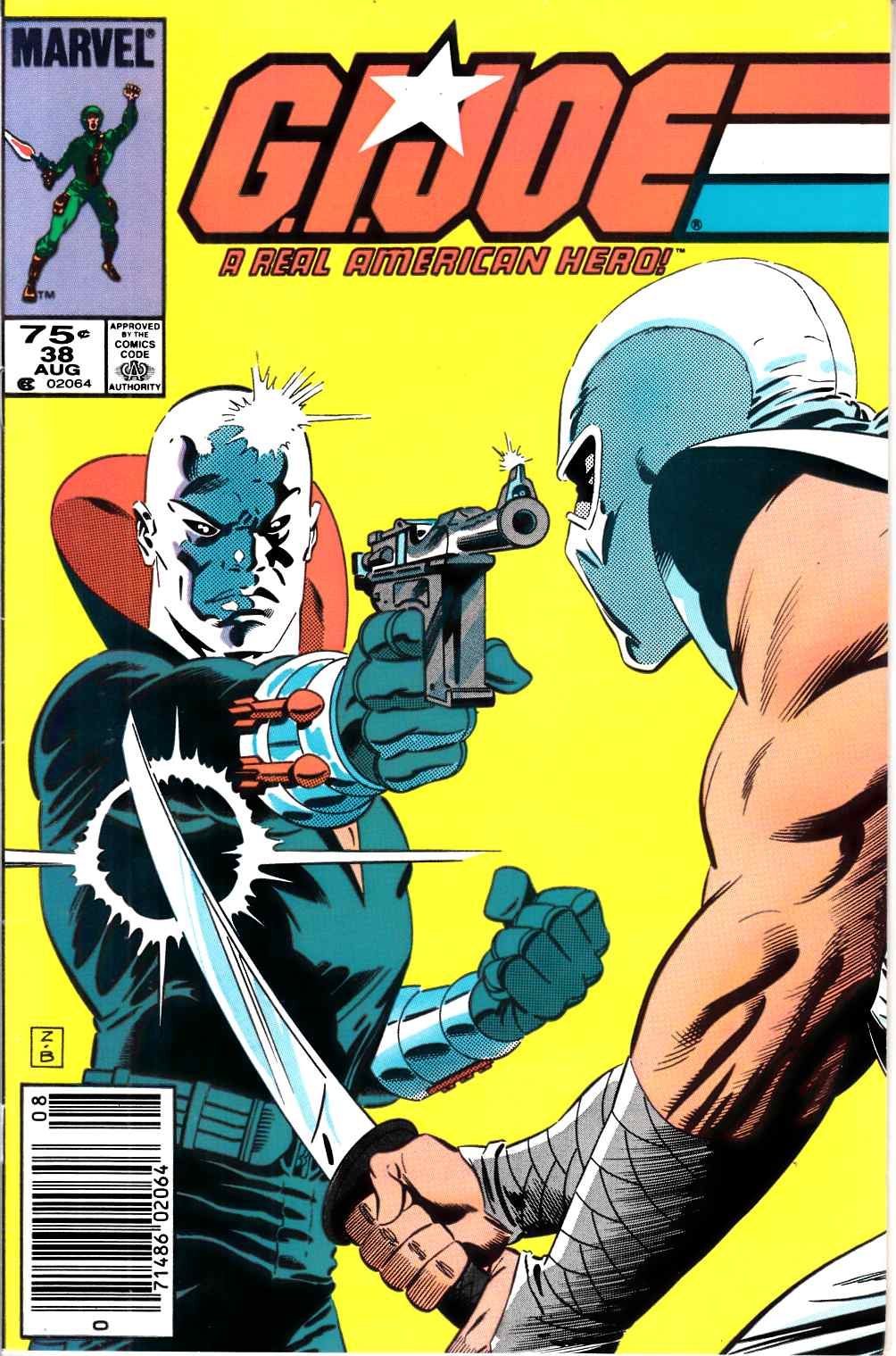 GI Joe A Real American Hero #38 Newsstand Edition Very Fine Minus (7.5) [Marvel Comic] LARGE