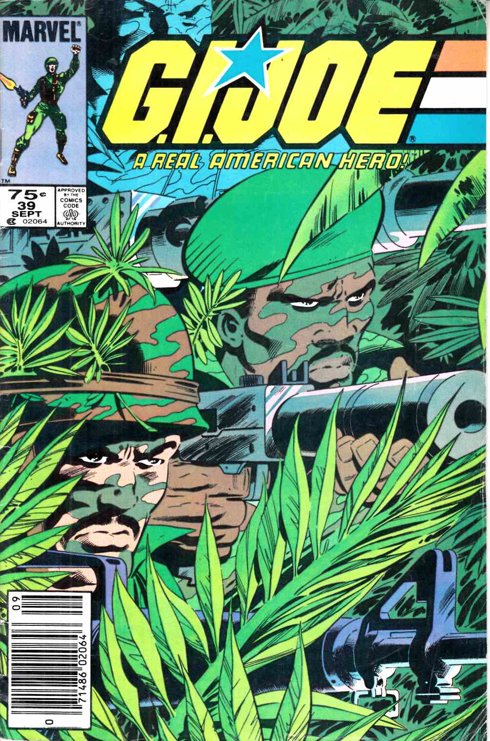 GI Joe A Real American Hero #39 Newsstand Edition Good (2.0) [Marvel Comic] LARGE
