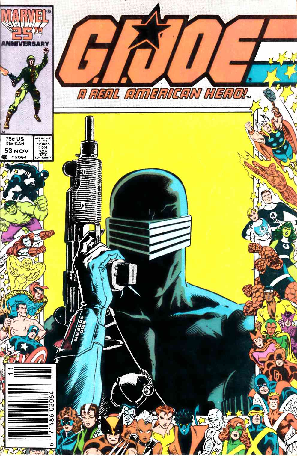 GI Joe A Real American Hero #53 Newstand Edition Fine Minus  (5.5) [Marvel Comic] LARGE