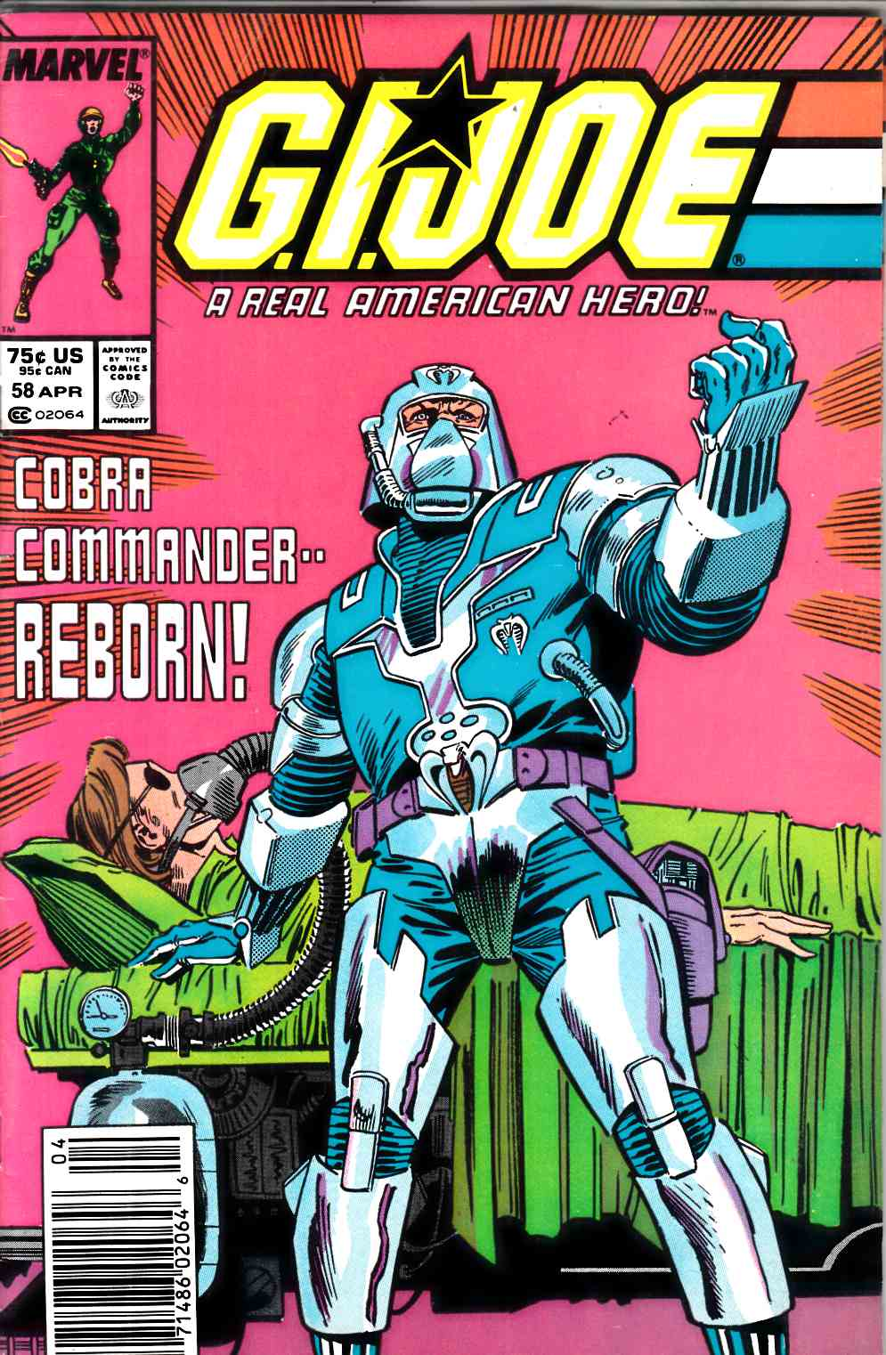 GI Joe A Real American Hero #58 Newstand Edition Very Good (4.0) [Marvel Comic] LARGE