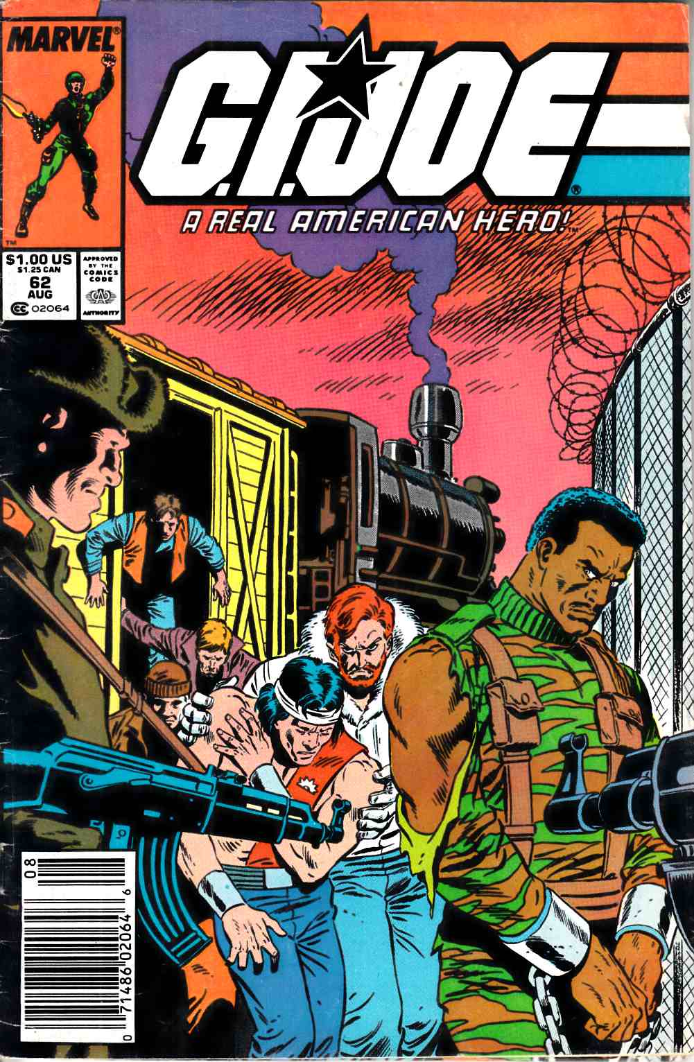 GI Joe A Real American Hero #62 Newsstand Edition Good (2.0) [Marvel Comic] LARGE