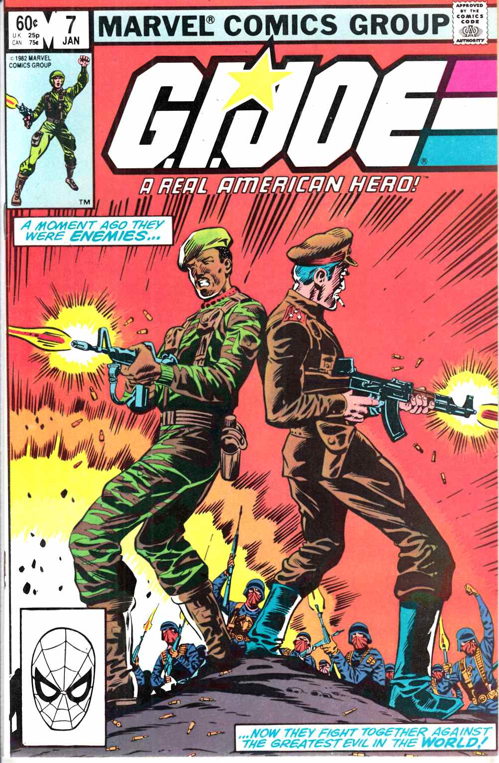 GI Joe A Real American Hero #7 Near Mint (9.4) [Marvel Comic]_THUMBNAIL