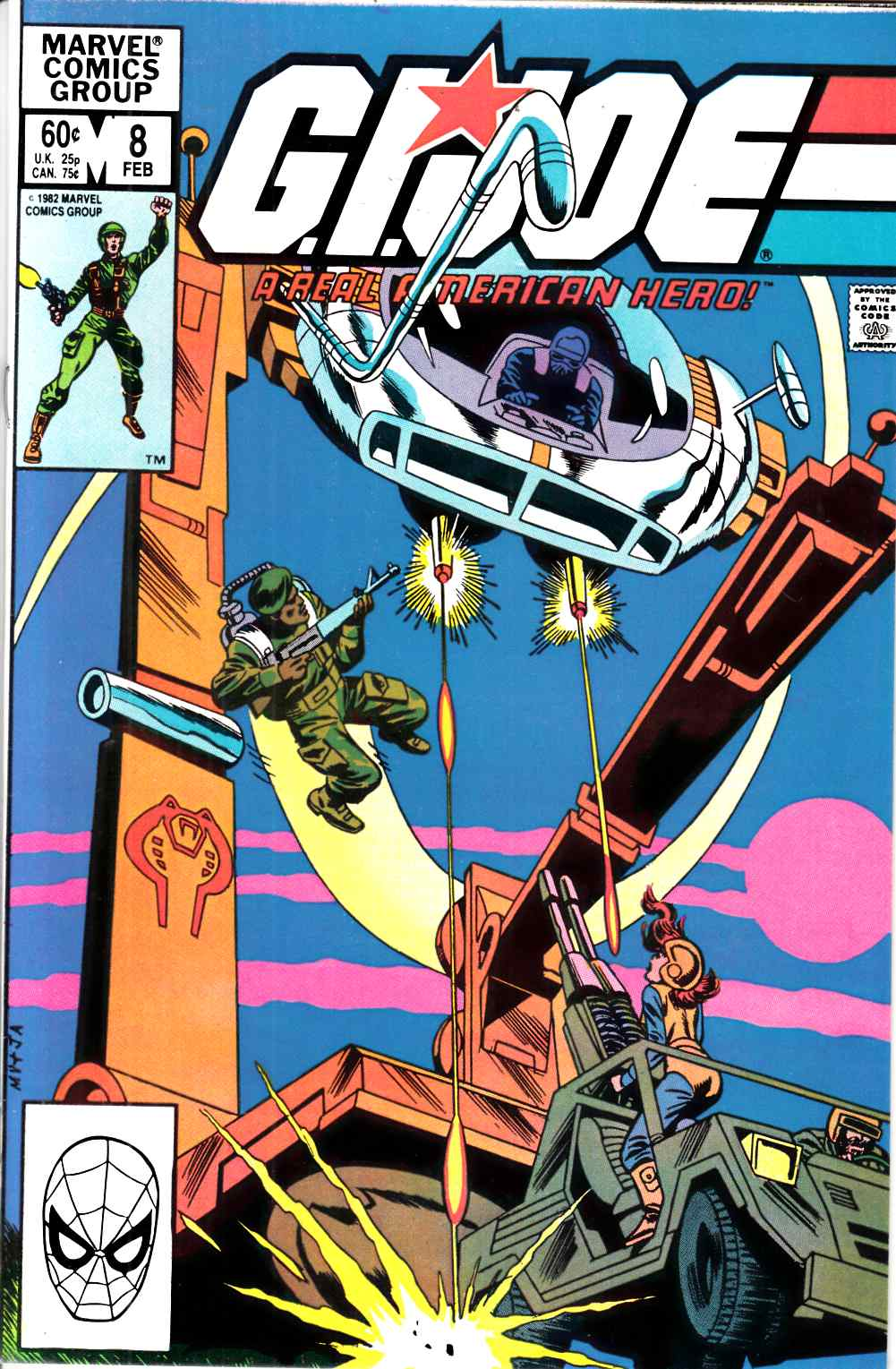 GI Joe A Real American Hero #8 Near Mint (9.4) [Marvel Comic]_THUMBNAIL