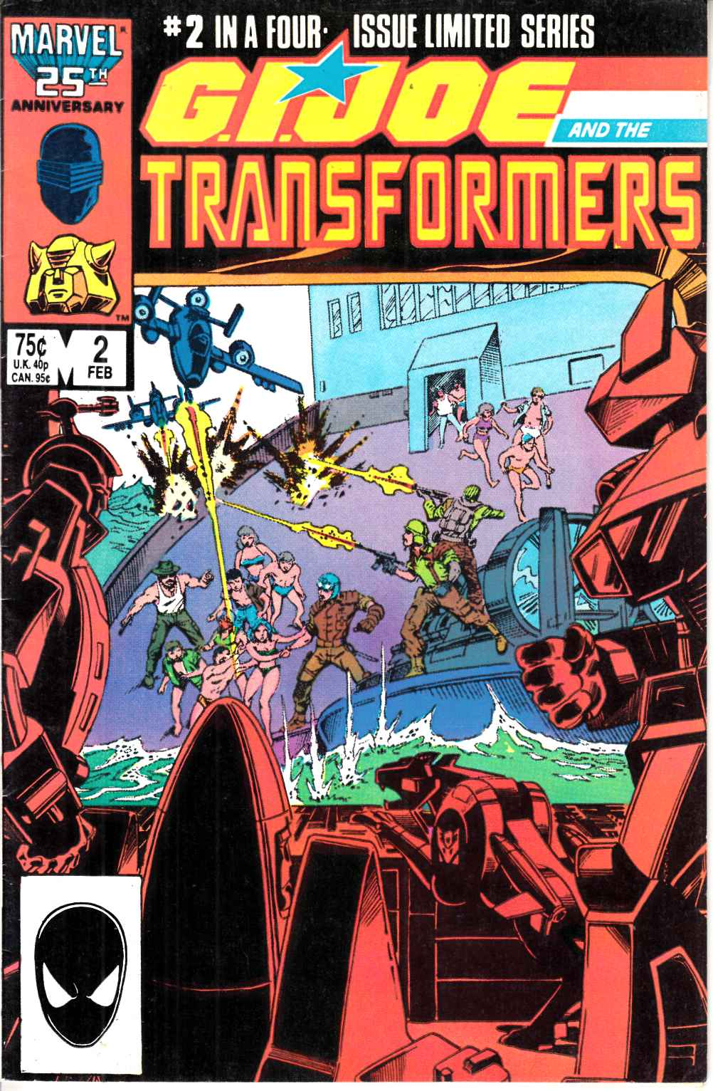 GI Joe and the Transformers #2 Fine (6.0) [Marvel Comic] LARGE