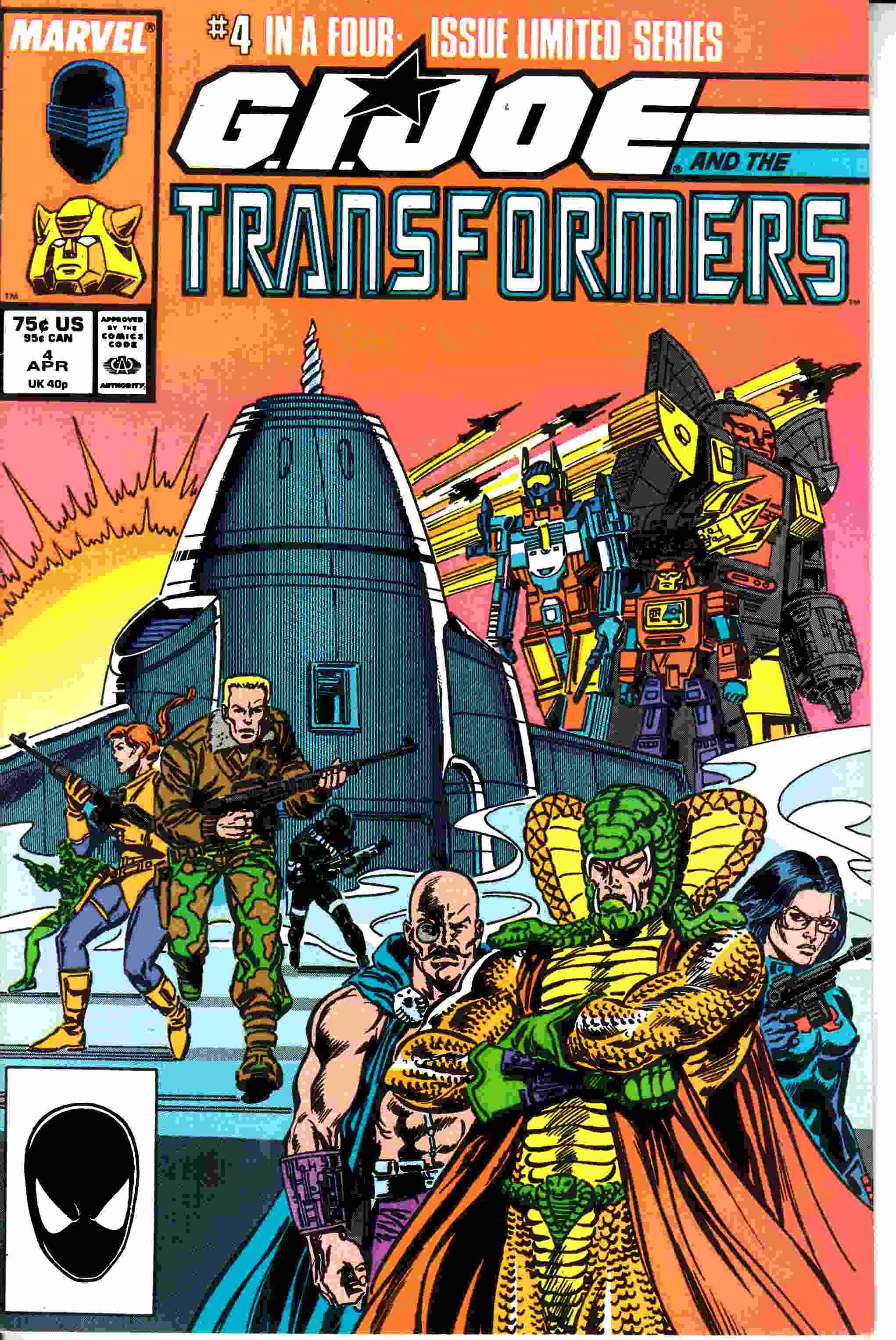 GI Joe and the Transformers #4 Very Fine (8.0) [Marvel Comic] –  Dreamlandcomics.com Online Store