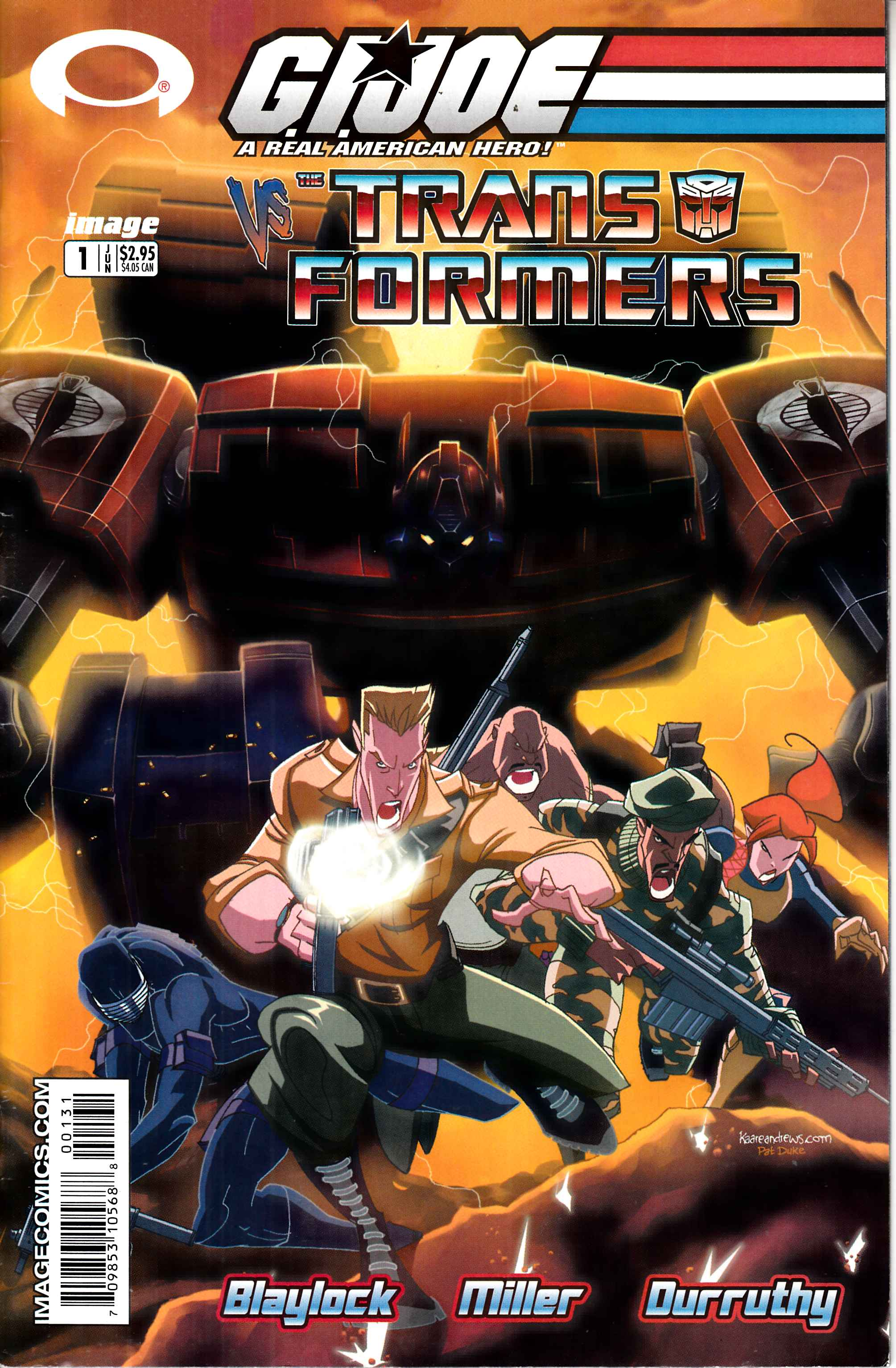 GI Joe Vs Transformers #1 Fine Minus (5.5) [Image Comic] THUMBNAIL