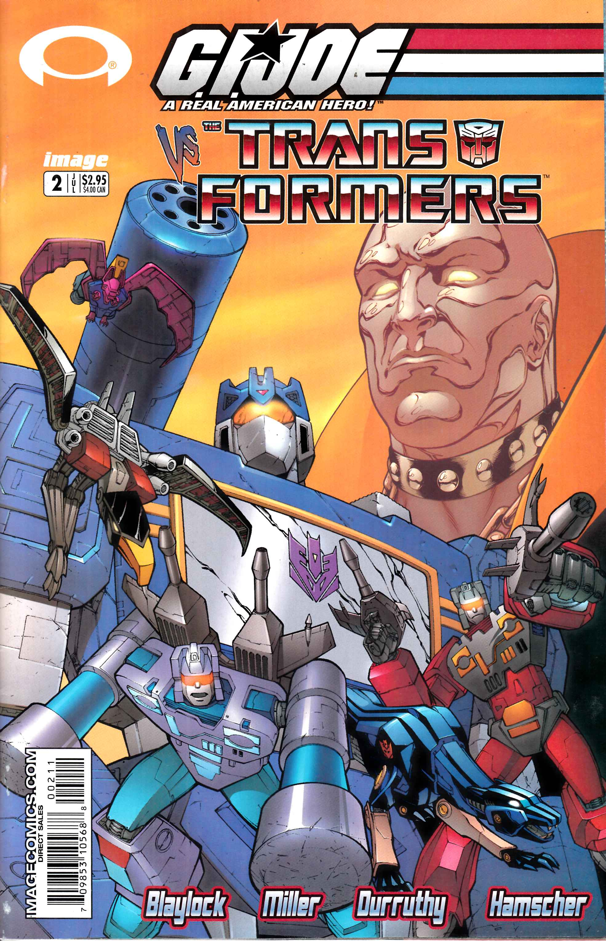 GI Joe Vs Transformers #2 Fine Minus (5.5) [Image Comic] THUMBNAIL