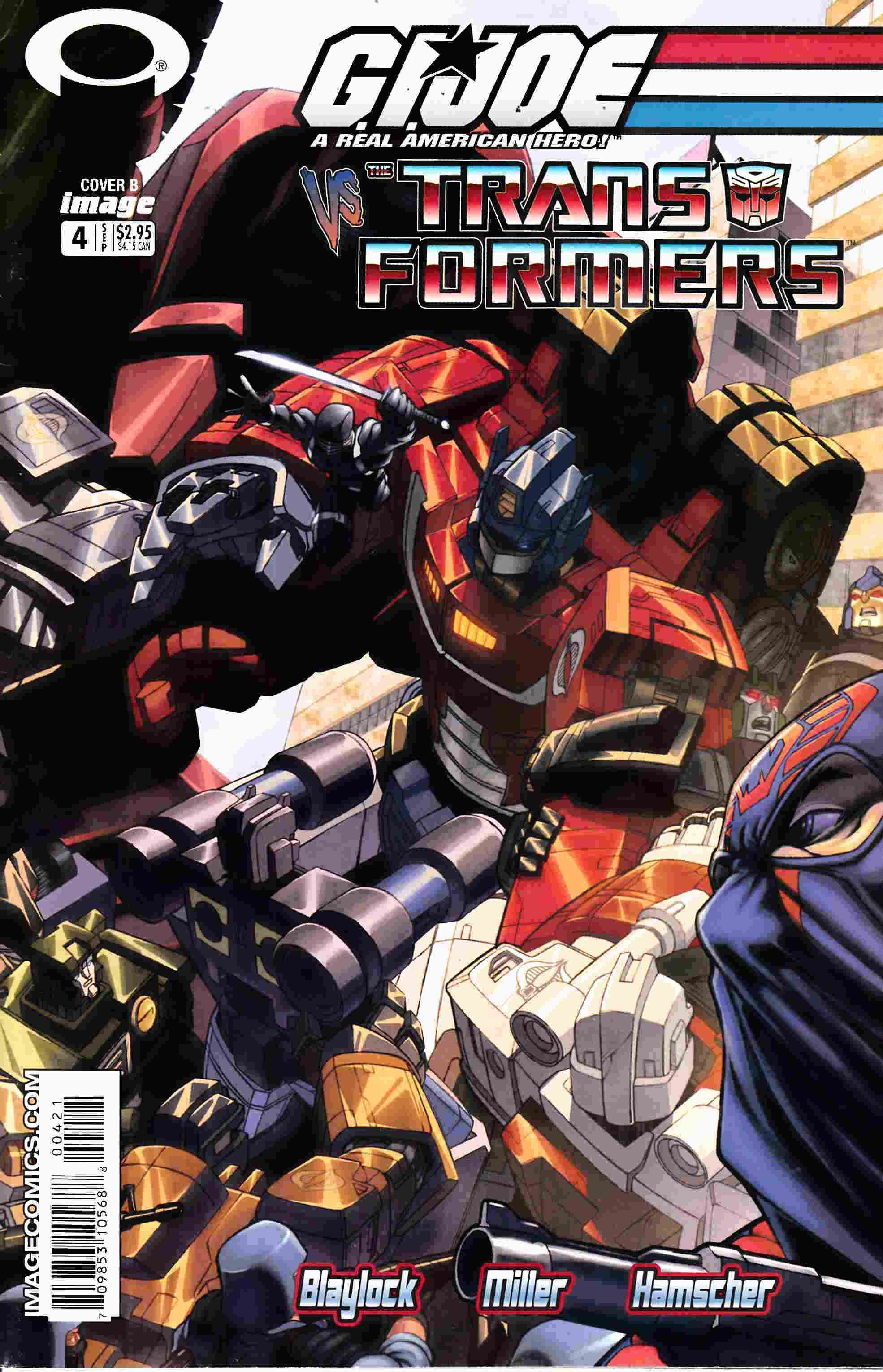GI Joe Vs Transformers #4 Fine Minus (5.5) [Image Comic] THUMBNAIL