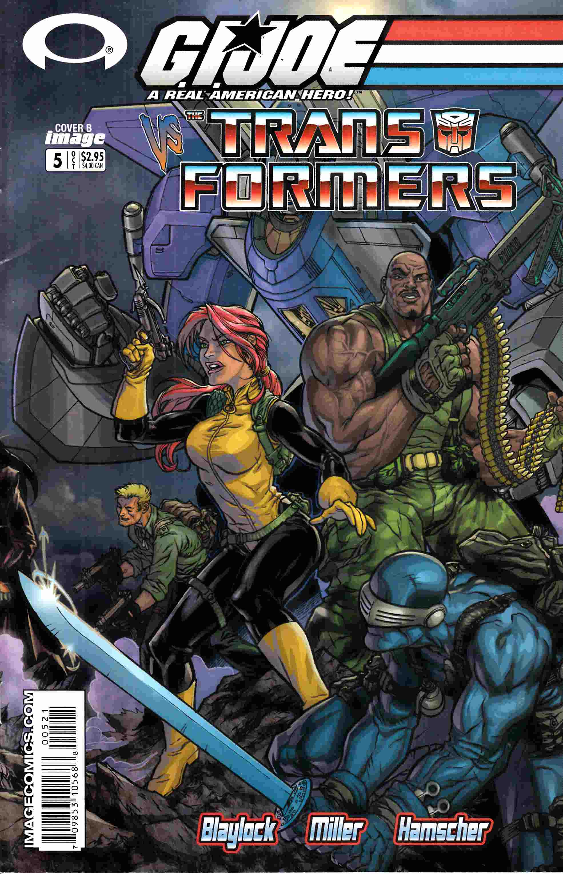 GI Joe Vs Transformers #5 Fine (6.0) [Image Comic] THUMBNAIL