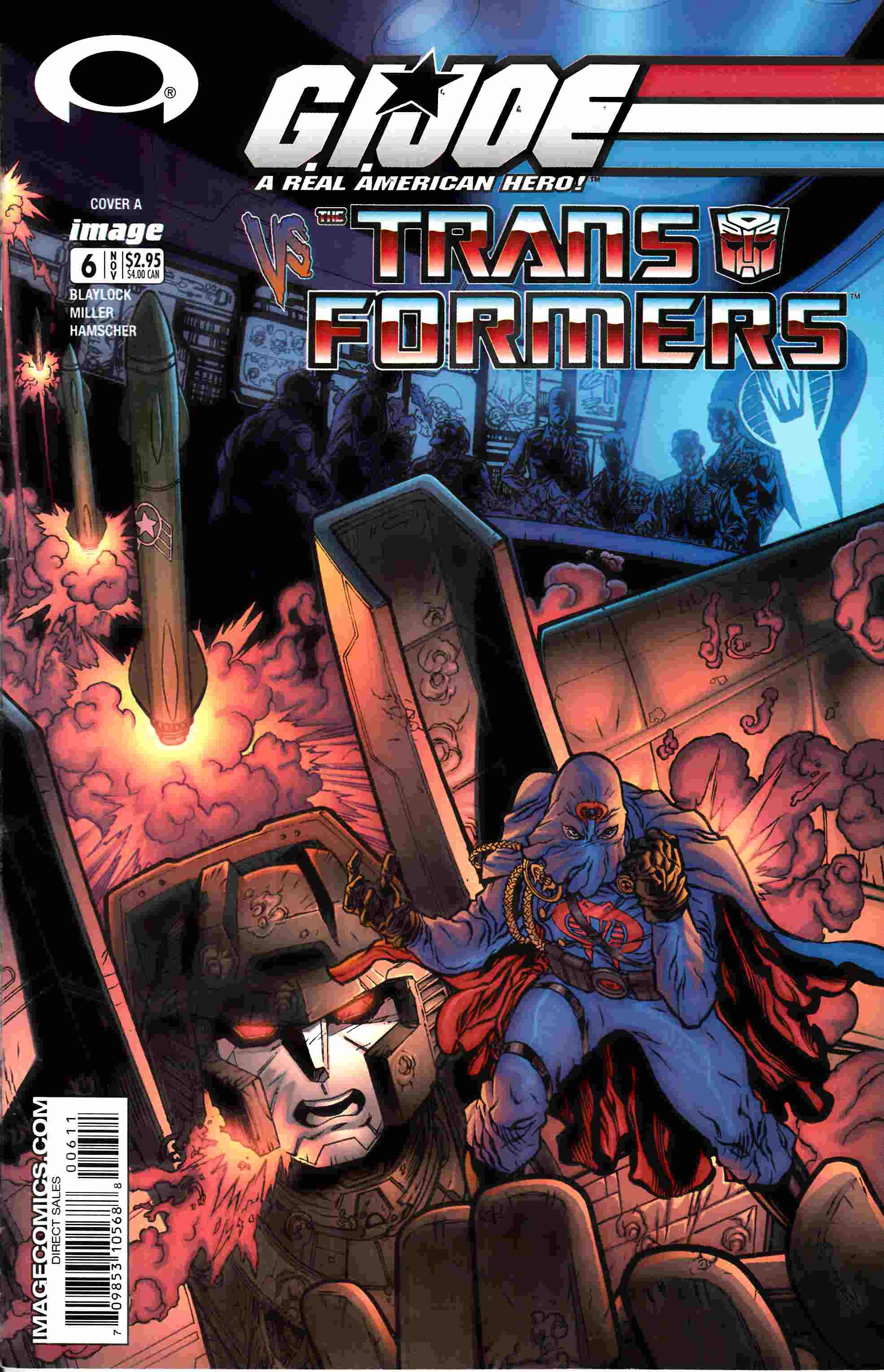 GI Joe Vs Transformers #6 Fine (6.0) [Image Comic] THUMBNAIL
