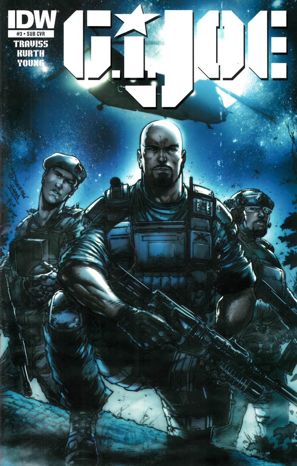 GI Joe (2014) #3 Subscription Cover Near Mint (9.4) [IDW Comic]_THUMBNAIL