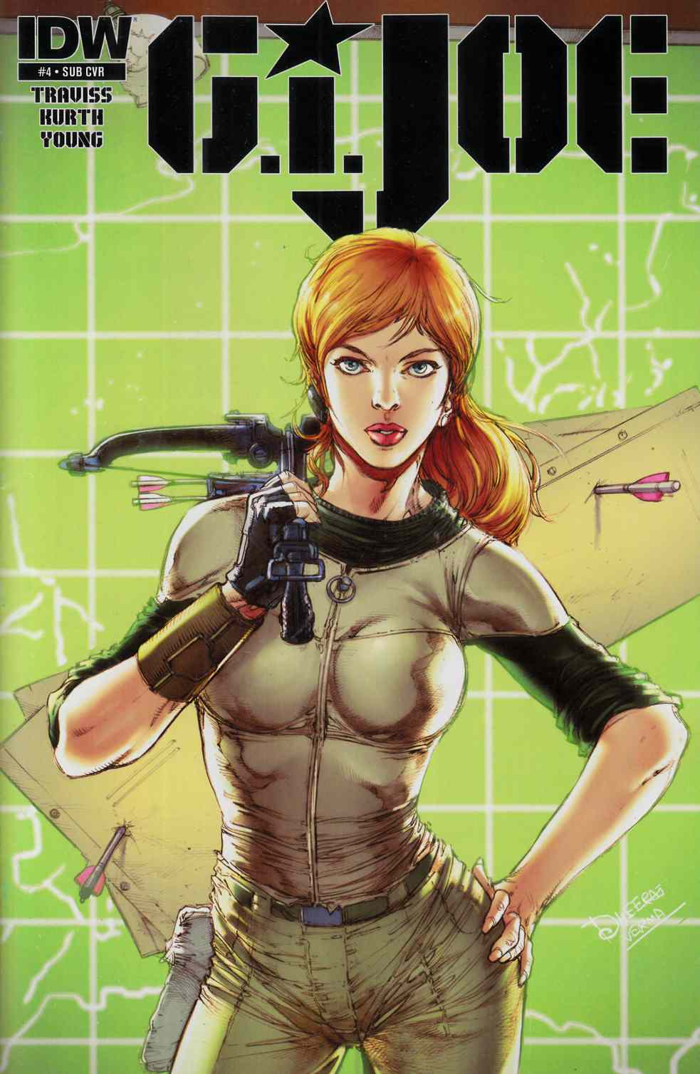 GI Joe (2014) #4 Subscription Cover Near Mint (9.4) [IDW Comic]_THUMBNAIL