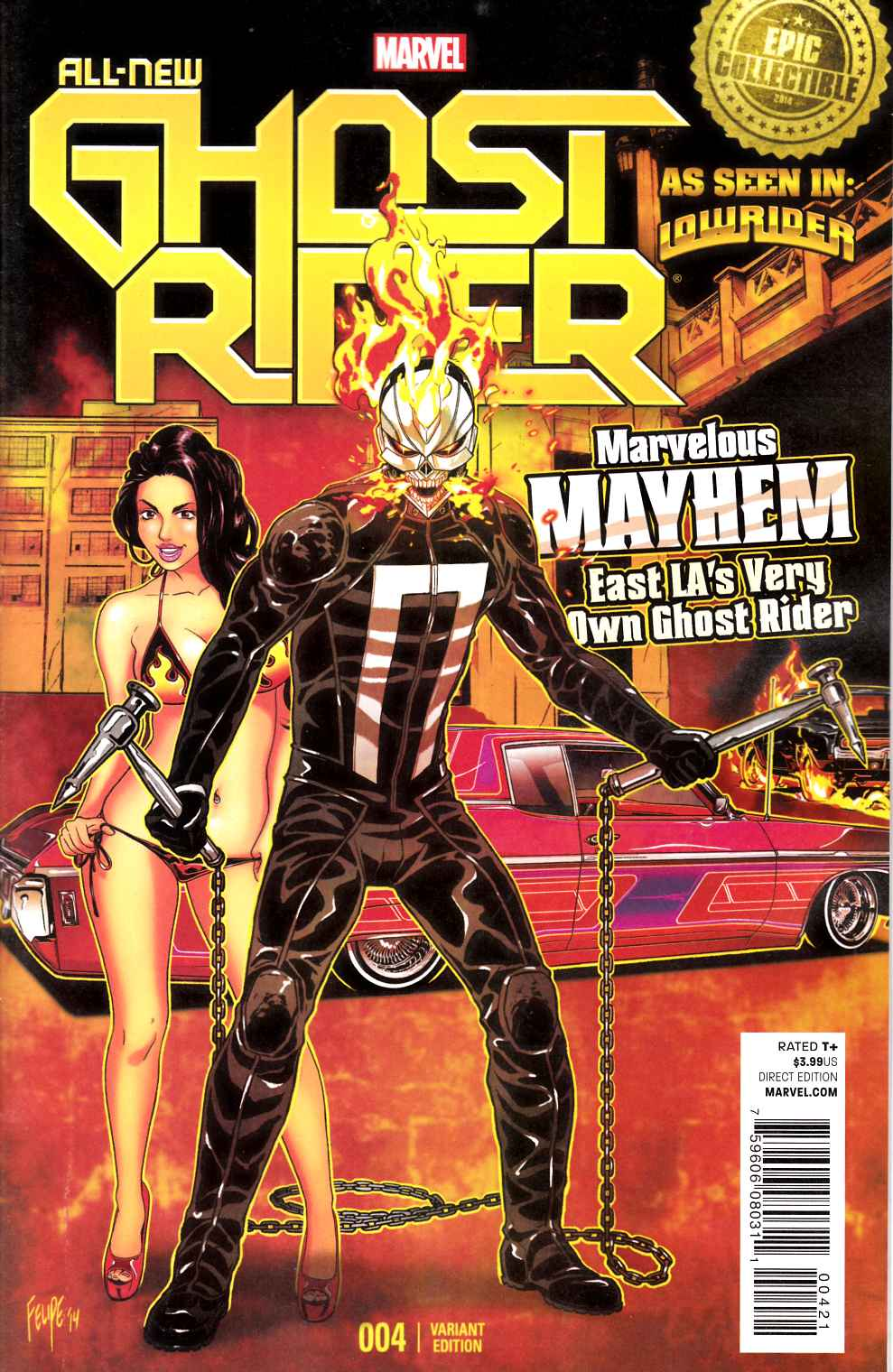 All New Ghost Rider #4 Lowrider Smith Cover Near Mint (9.4) [Marvel Comic]