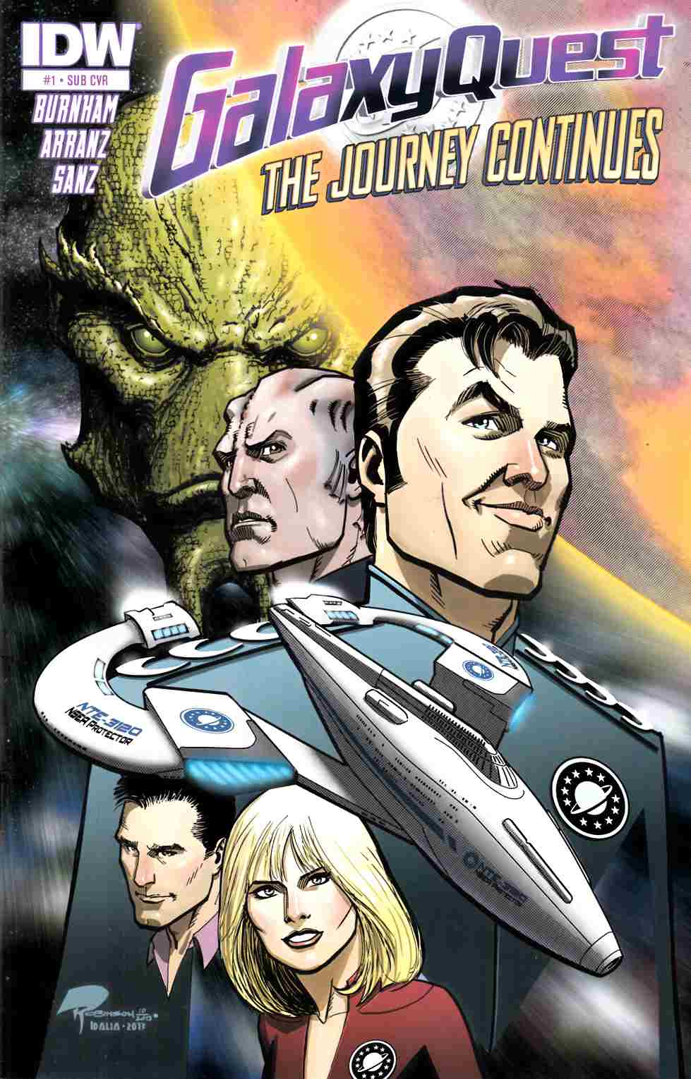 Galaxy Quest Journey Continues #1 Subscription Cover [IDW Comic] LARGE