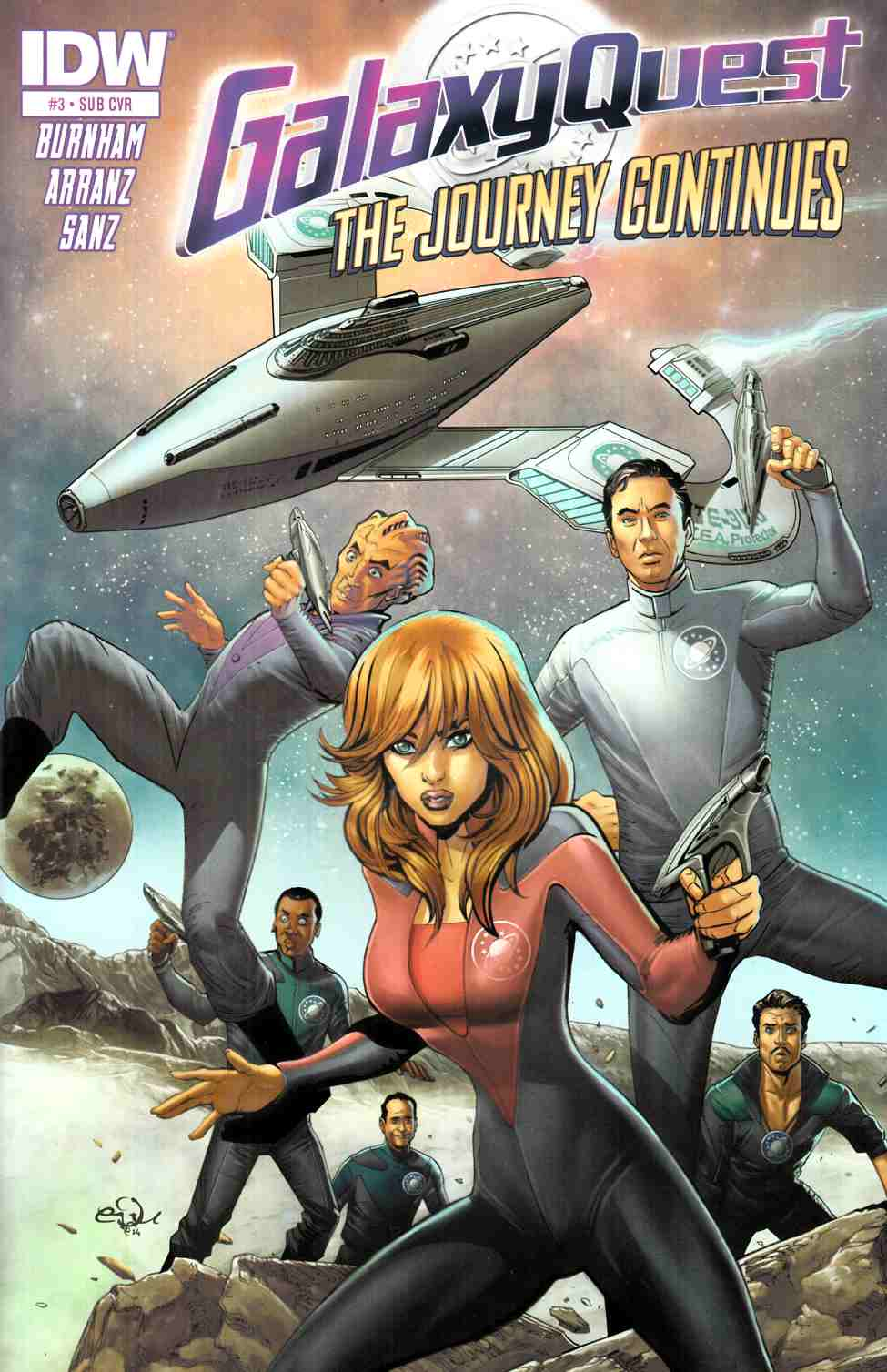 Galaxy Quest Journey Continues #2 Subscription Cover [IDW Comic]_LARGE