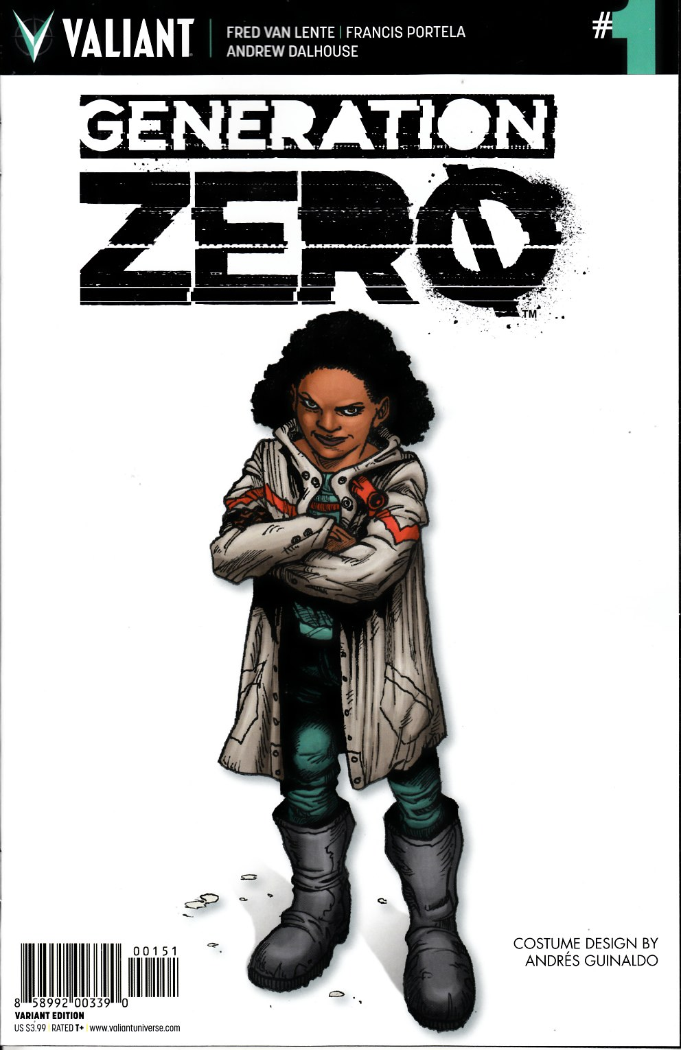 Generation Zero #1 Cover E- Character Design Incentive [Valiant Comic] THUMBNAIL