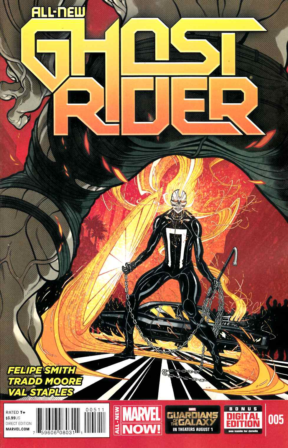 All New Ghost Rider #5 Near Mint (9.4) [Marvel Comic] LARGE