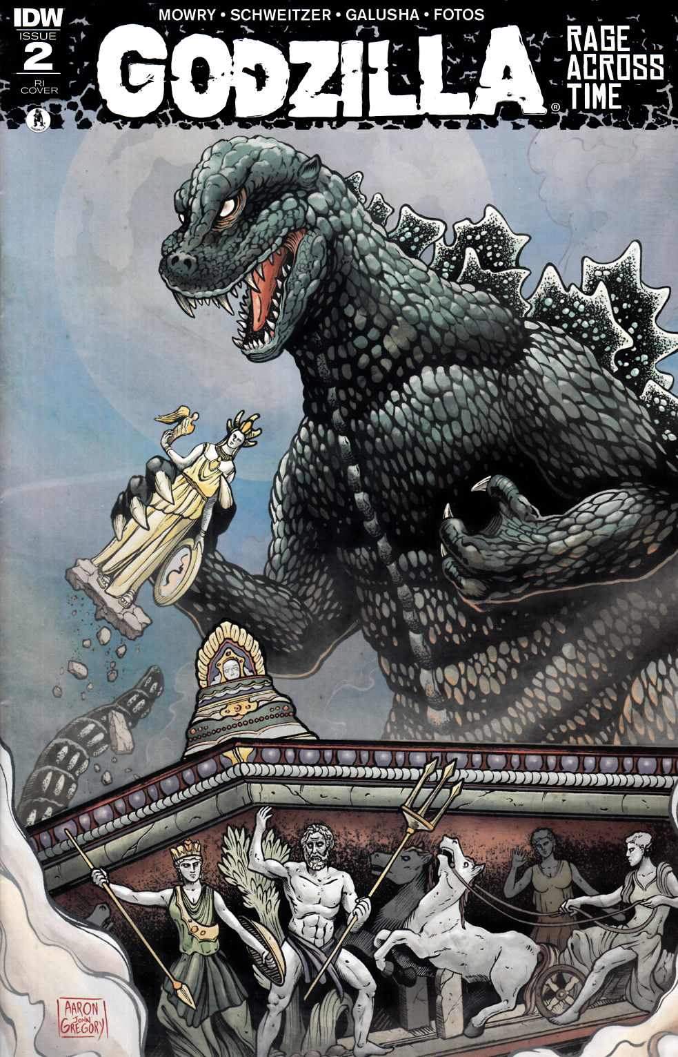 Godzilla Rage Across Time #2 Cover RI [IDW Comic] THUMBNAIL