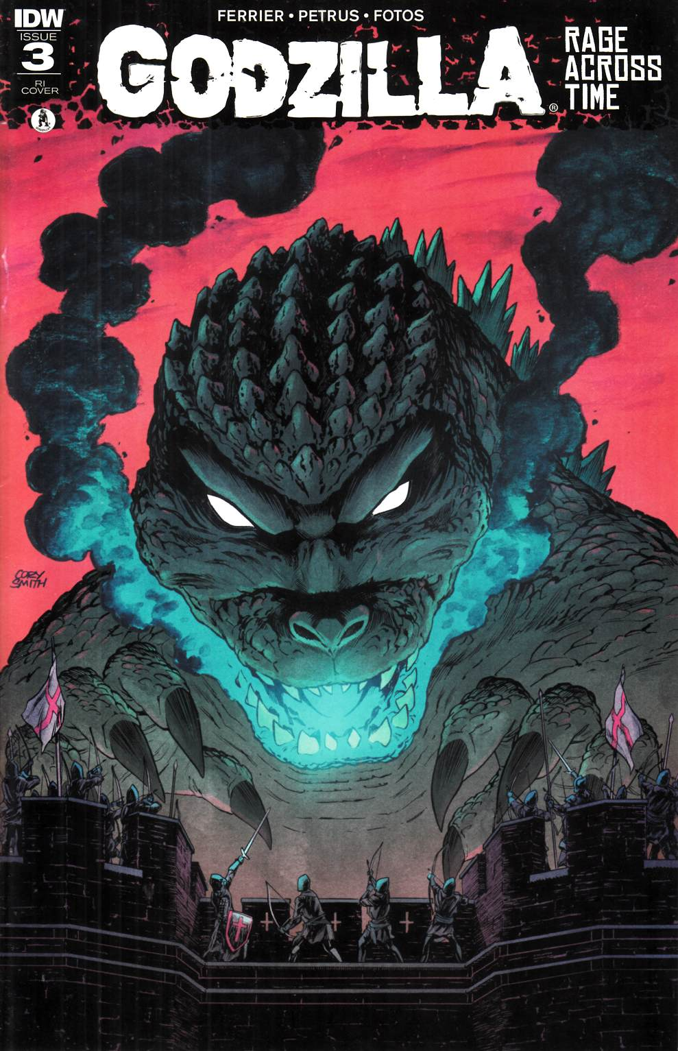 Godzilla Rage Across Time #3 Cover RI [IDW Comic] THUMBNAIL