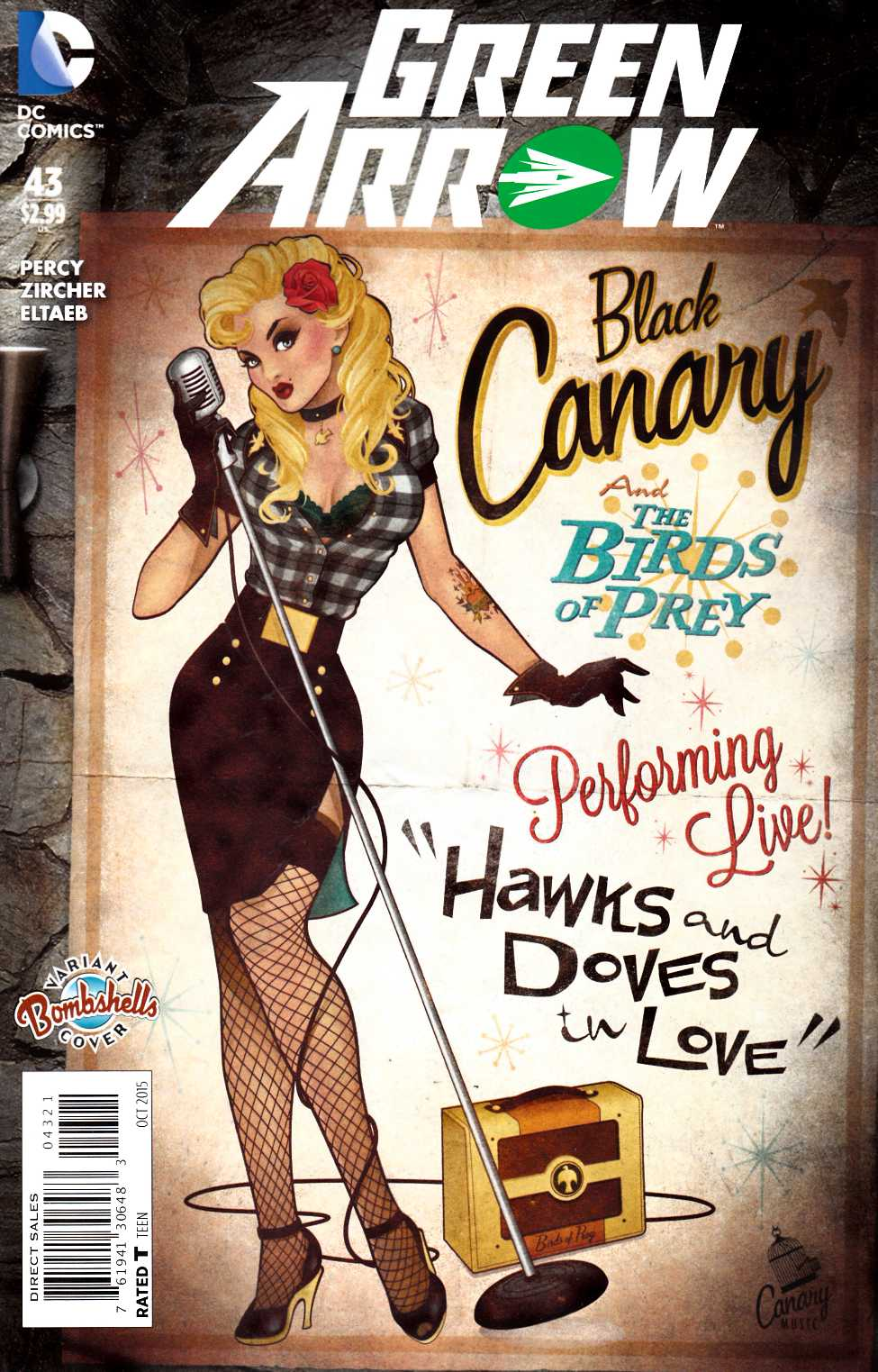 Green Arrow #43 Bombshells Variant Cover [DC Comic]_THUMBNAIL