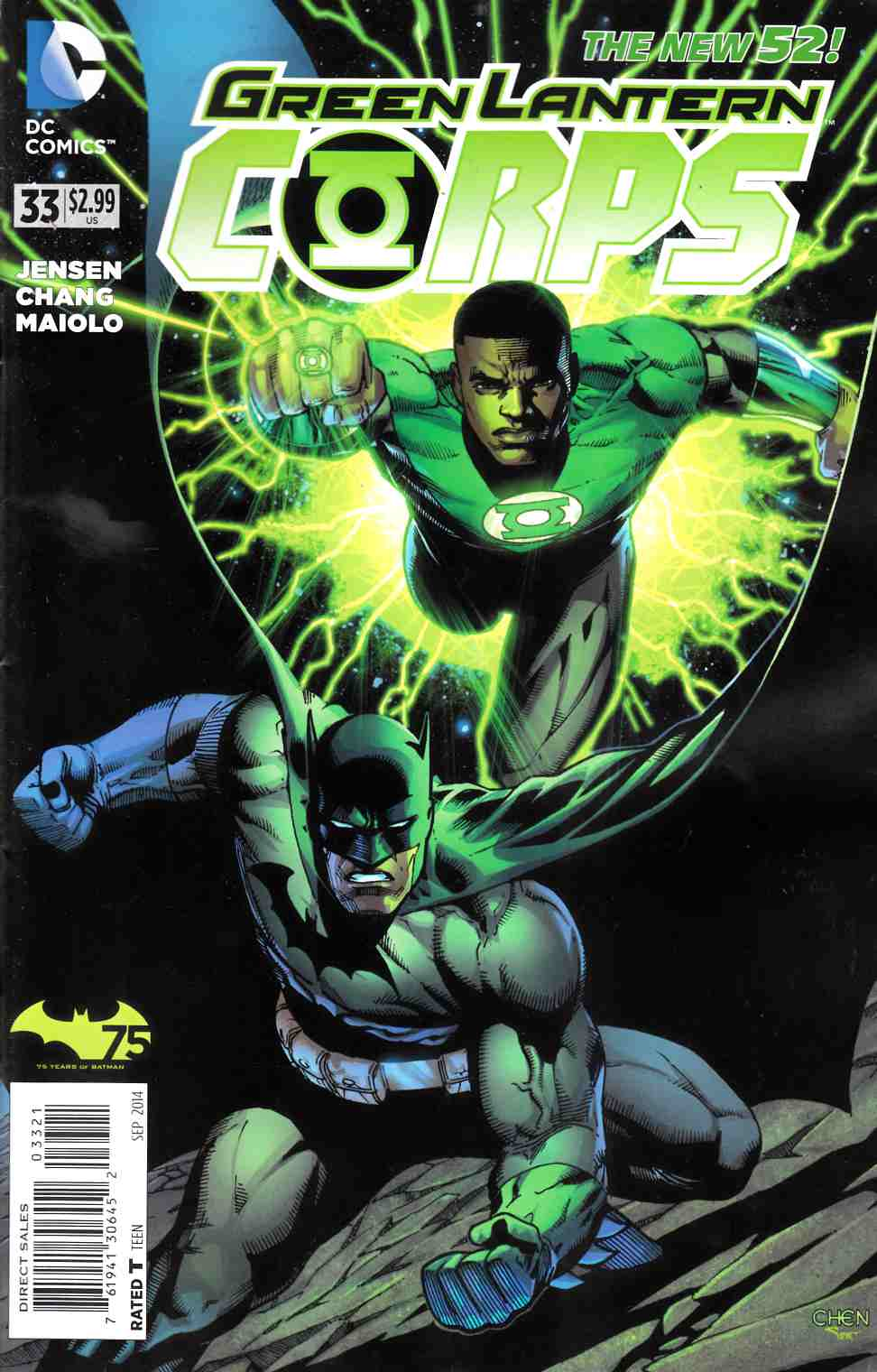 Green Lantern Corps #33 Batman 75th Variant Cover [DC Comic]