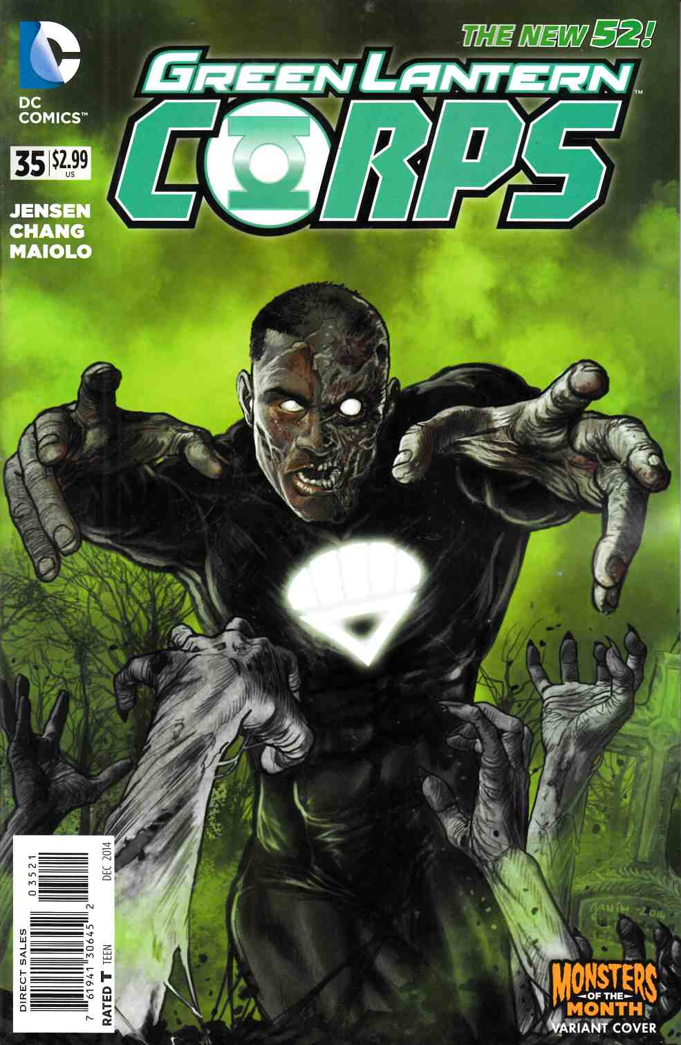 Green Lantern Corps #35 Monsters Variant Cover (Godhead) [DC Comic]_THUMBNAIL