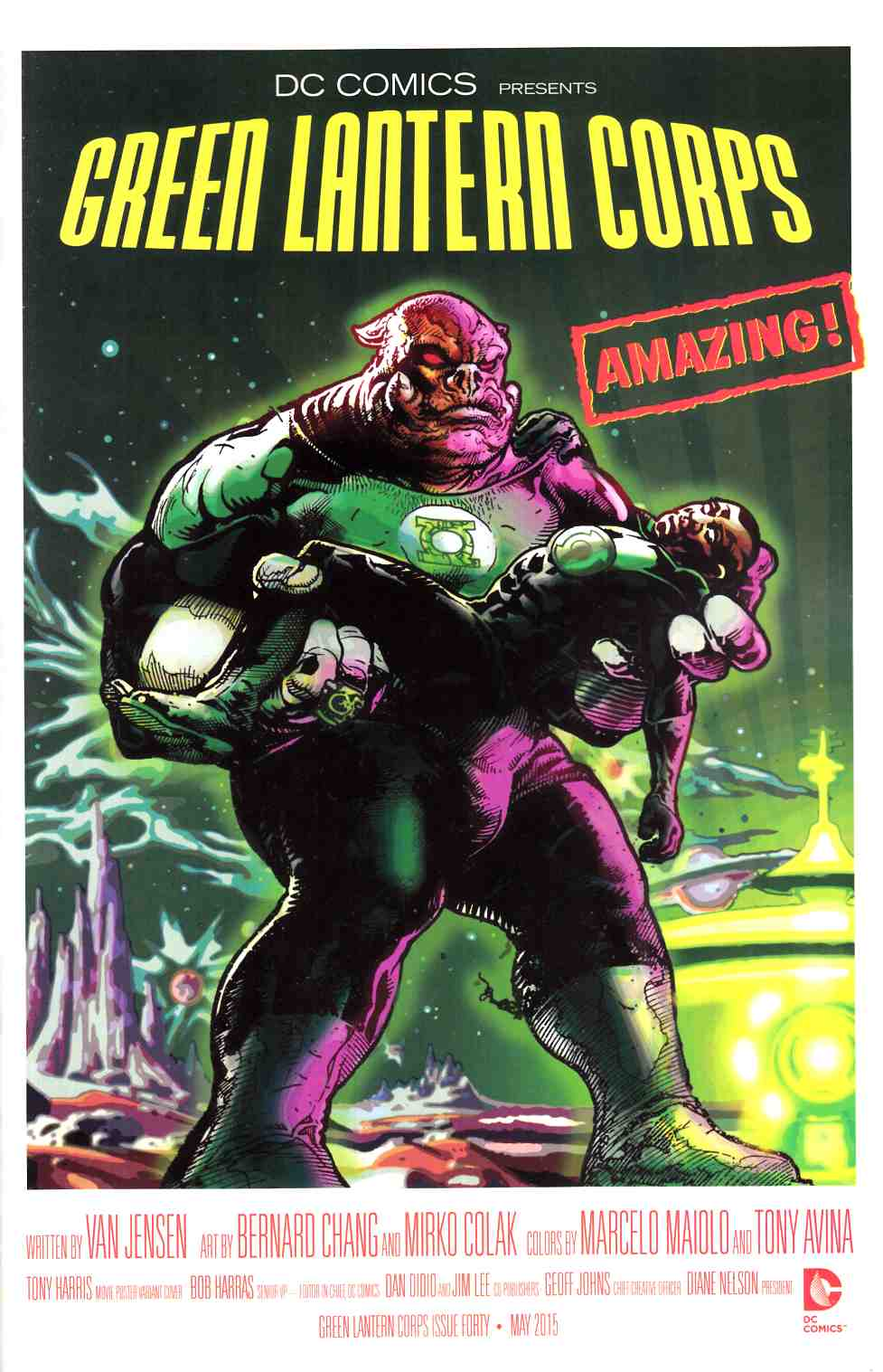 Green Lantern Corps #40 Movie Poster Variant Cover Very Fine (8.0) [DC Comic]_THUMBNAIL